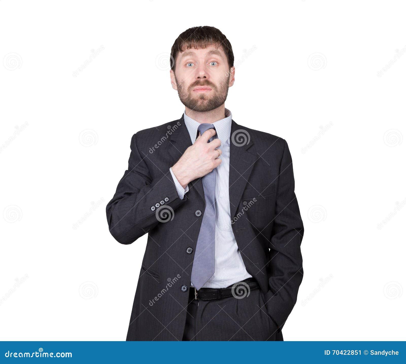 Gestures Distrust Lies. Body Language. Man In Business ...
