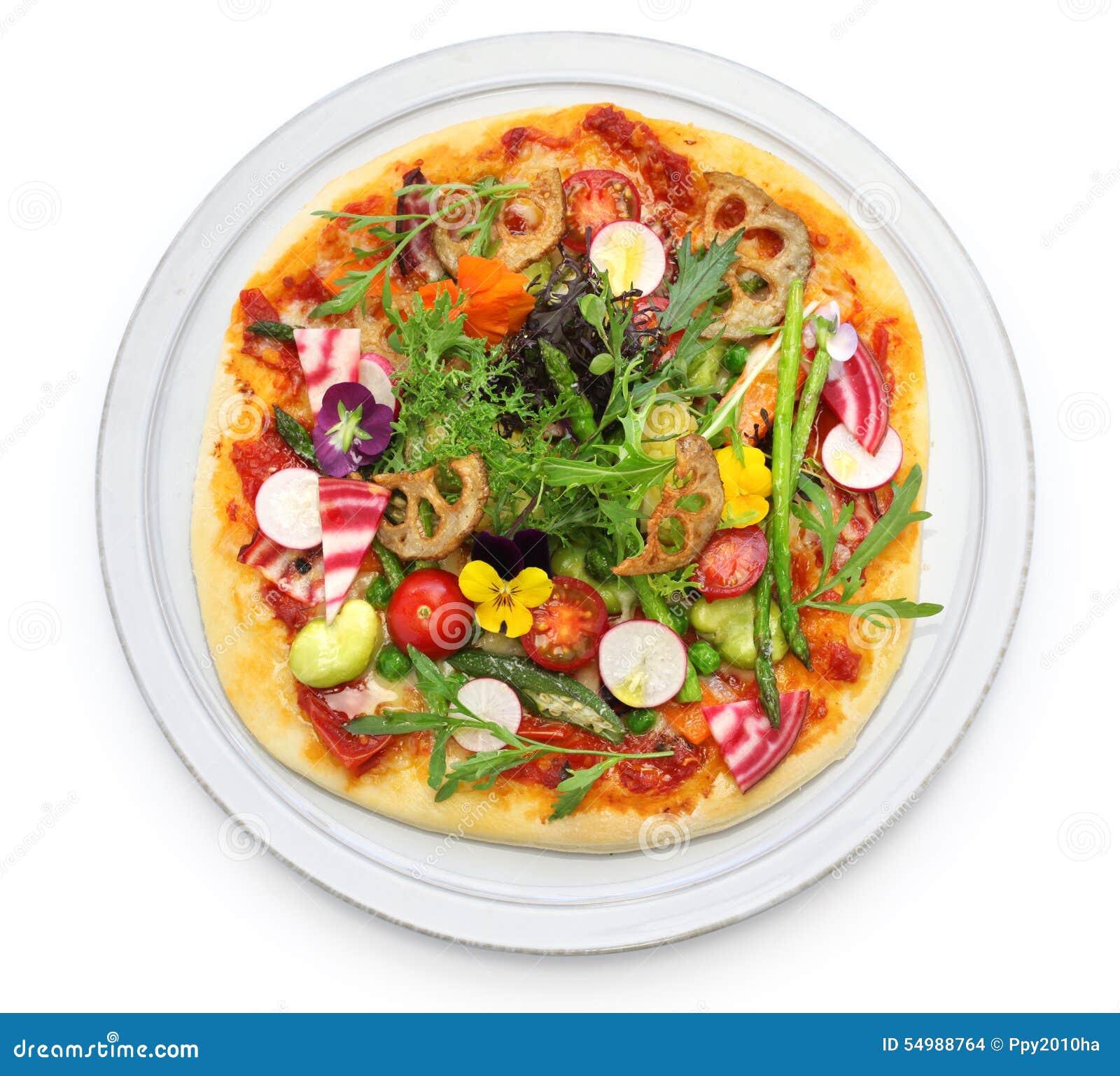 Gesunde Gemüsepizza