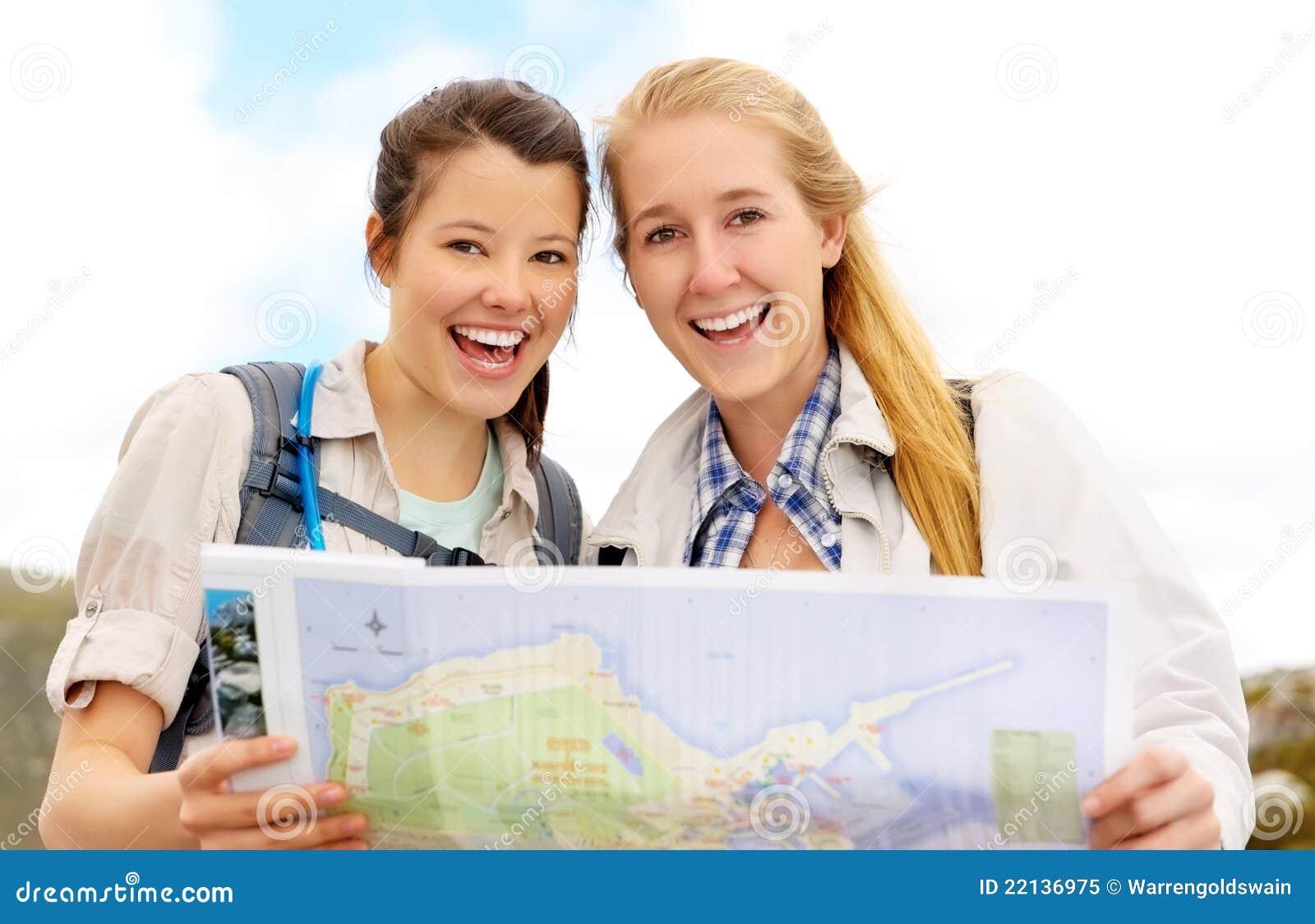 Gesunde glückliche junge Frauen
