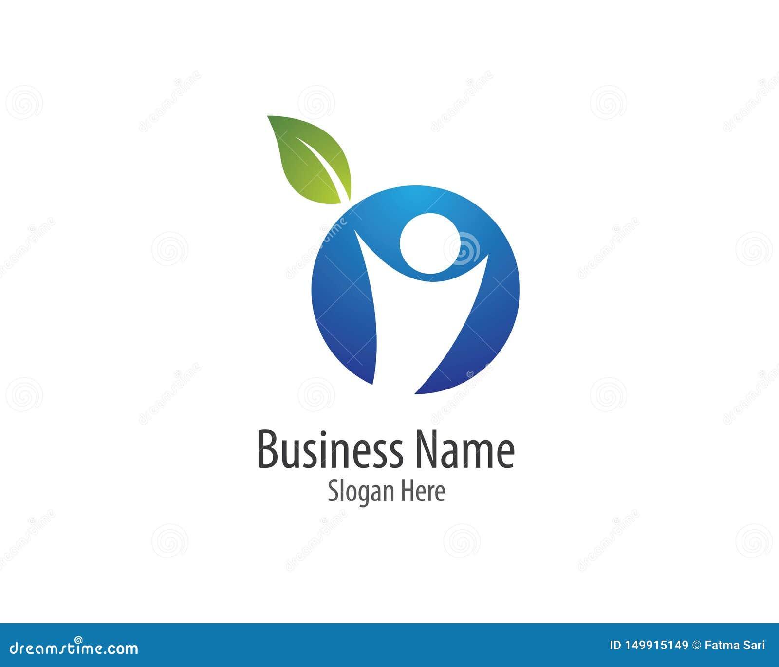 Gesunde Leben-Logoschablone