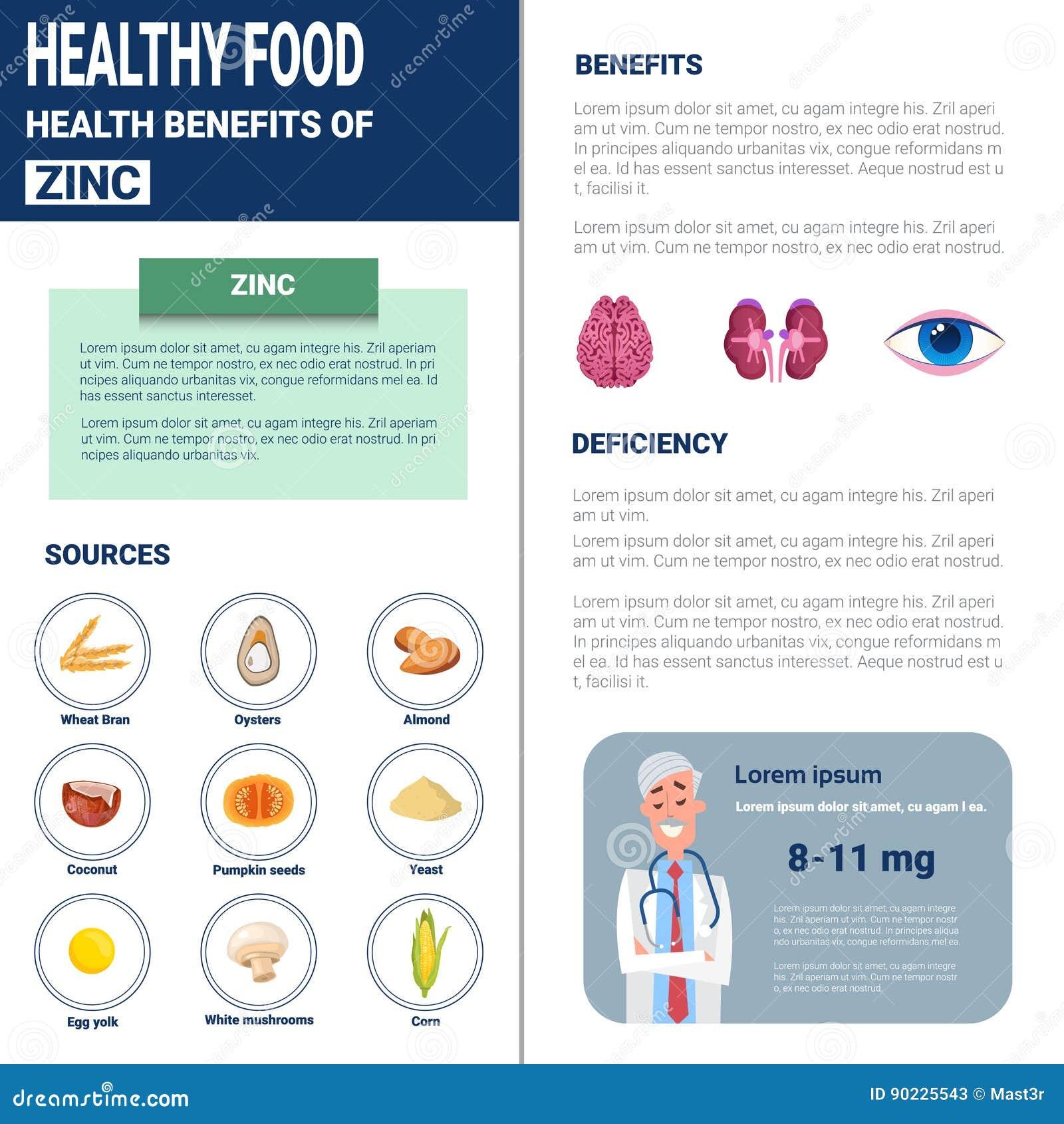 Gesunde Lebensmittel Infographics-Produkte mit Vitaminen und Mineralien, Gesundheits-Nahrungs-Lebensstil-Konzept