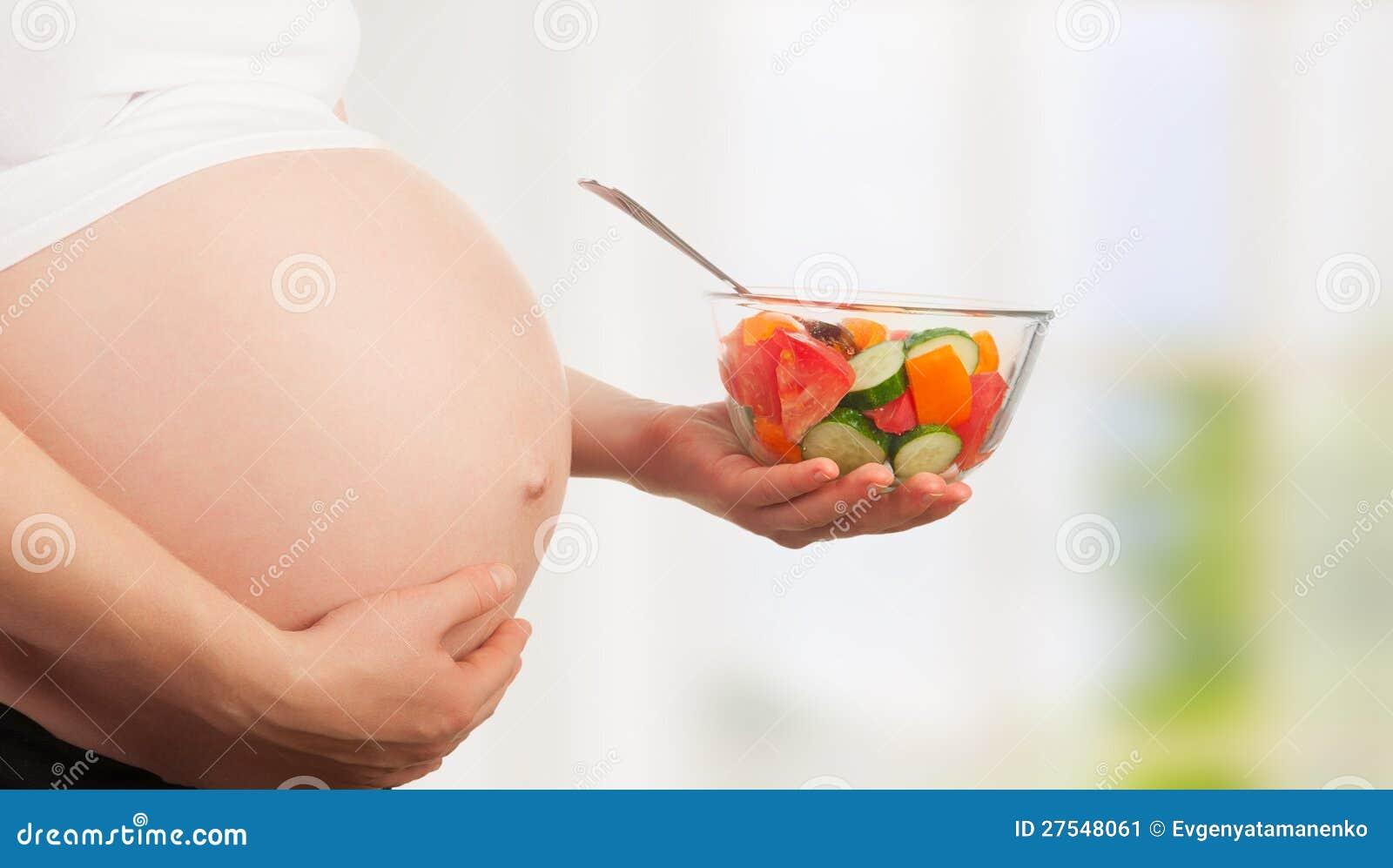 Gesunde Nahrung und Schwangerschaft.