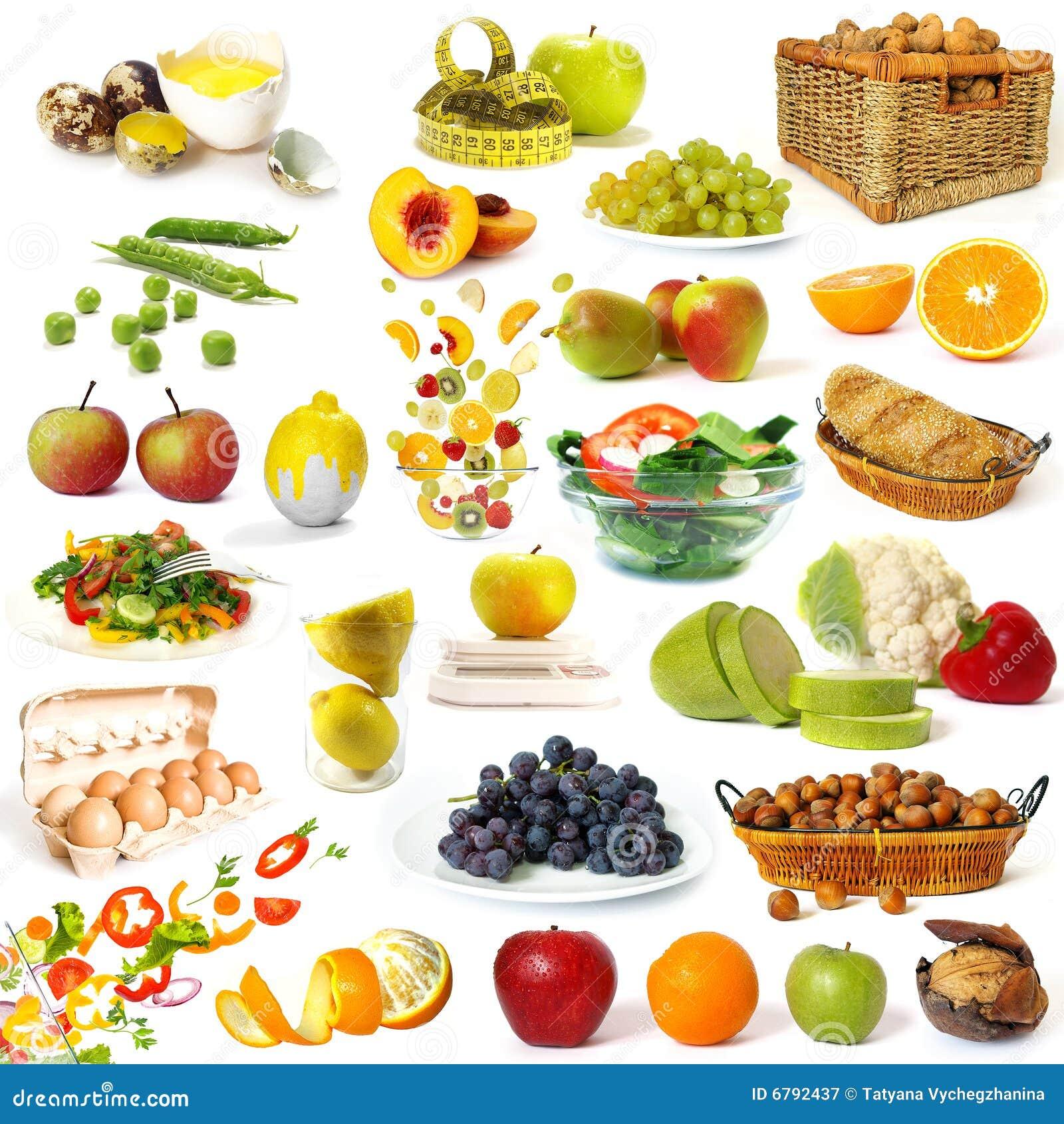 Gesunde Nahrungsmittelansammlung