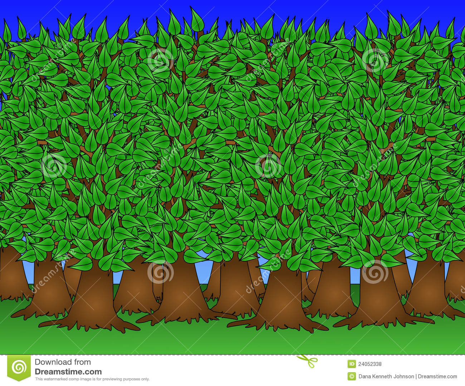 Gesunde Waldabbildung