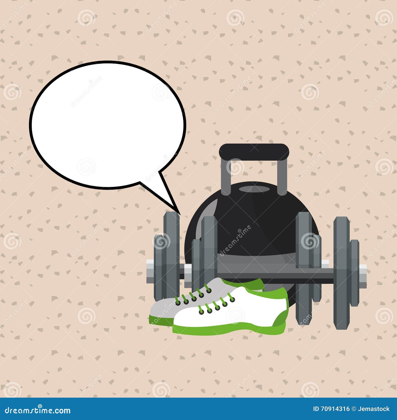 Gesunder Lebensstil Eignungsdesign Bodybuilding-Konzept