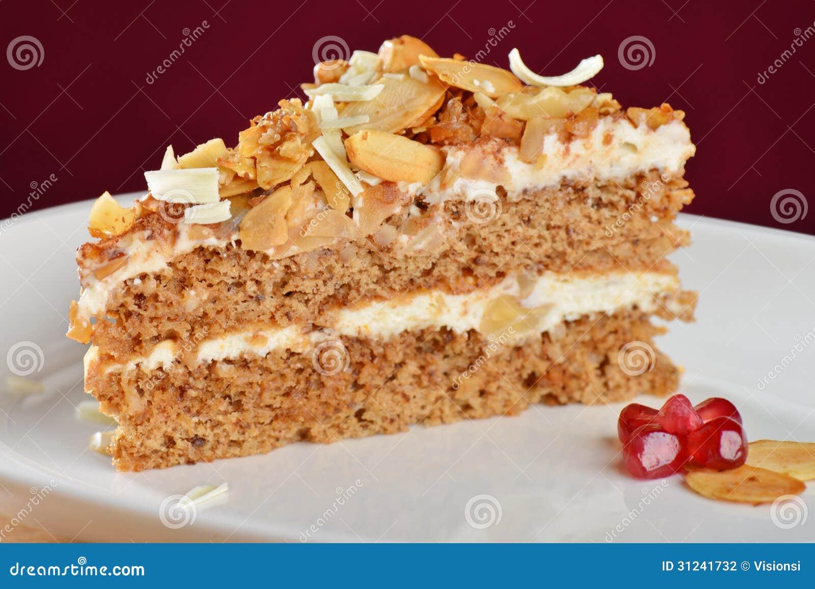 Gesunder Organischer Kuchen Stockfoto Bild Von Bereift Mandel