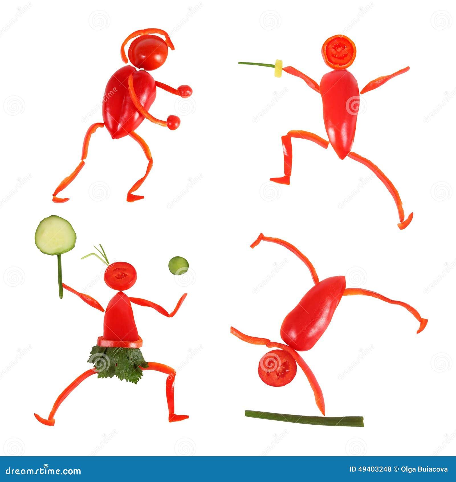 Download Gesundes Essen Kleine Lustige Leute Gemacht Vom Gemüse Und Von Der Frucht Stockfoto - Bild von lebensstil, eignung: 49403248