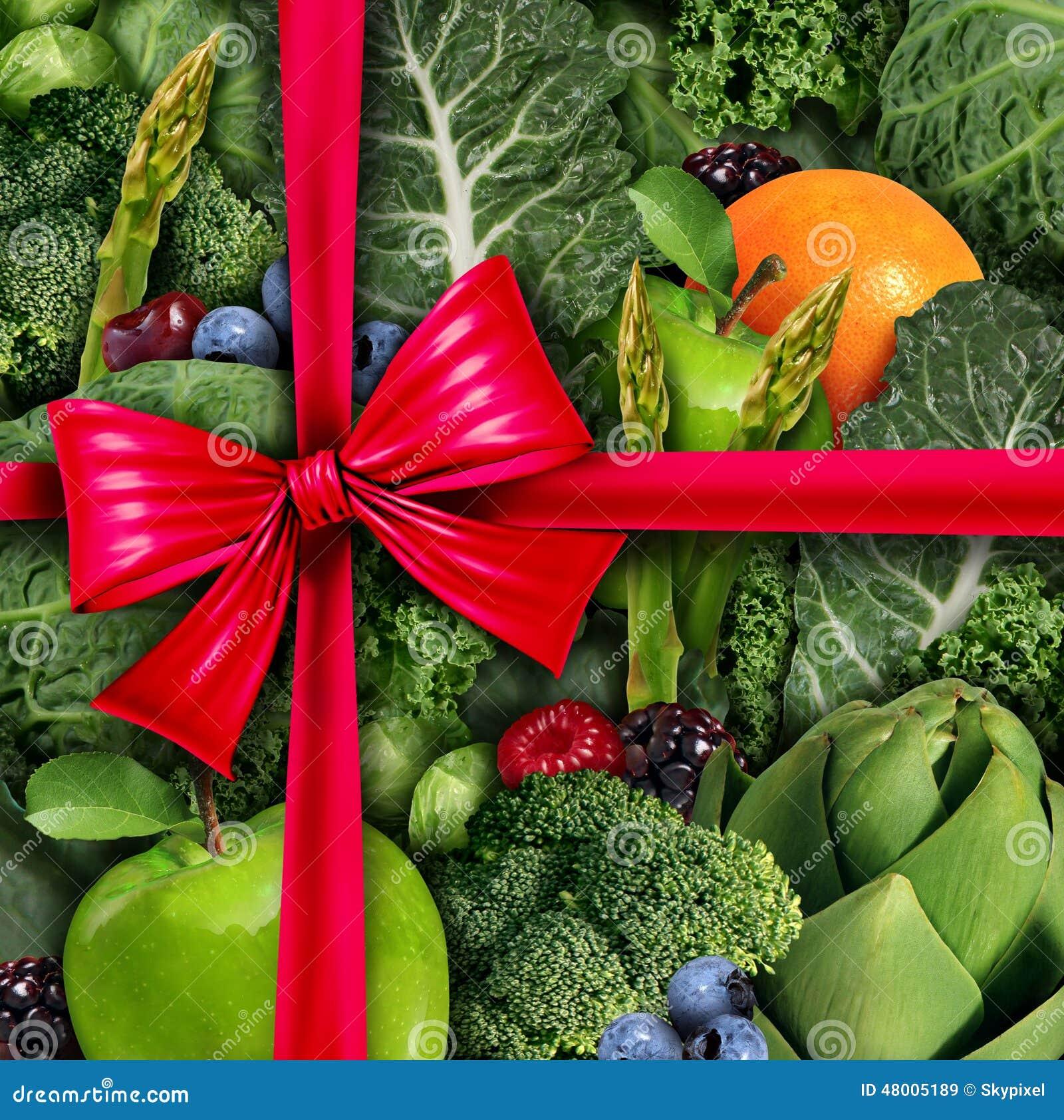 Gesundes Lebensmittel Geschenk Stock Abbildung Illustration Von