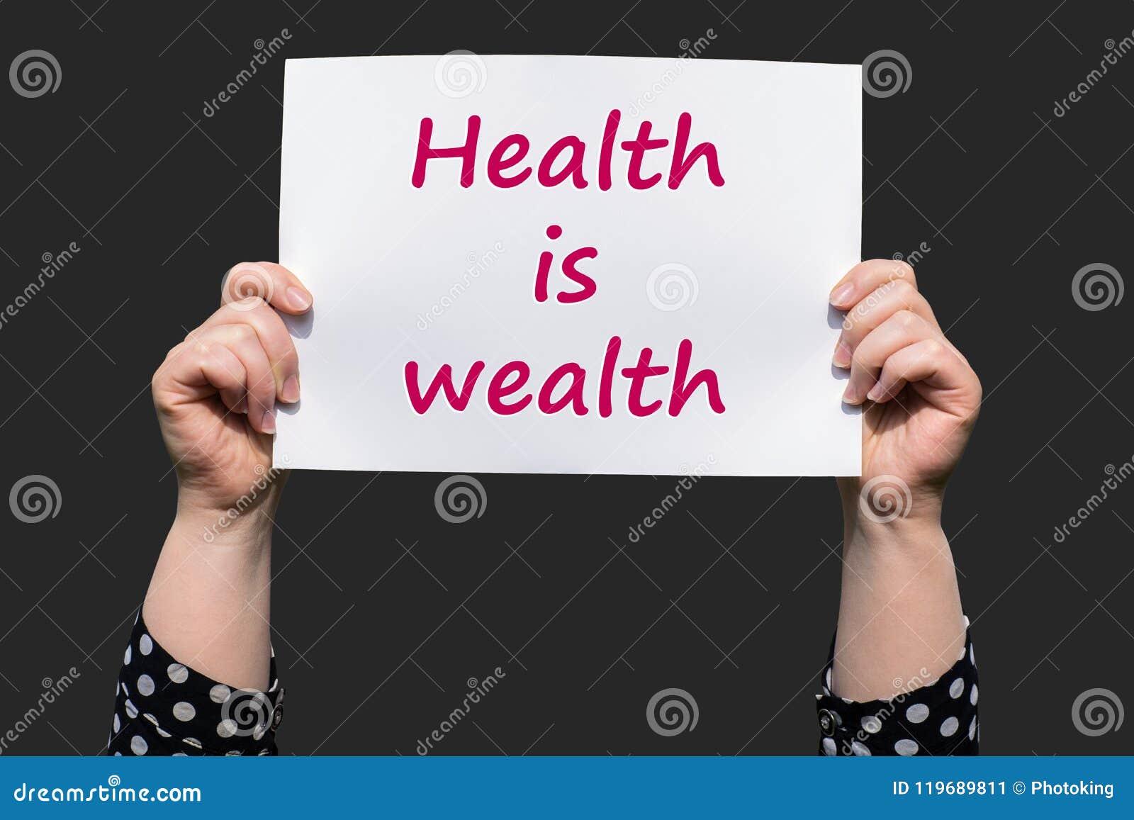 Gesundheit ist Reichtum