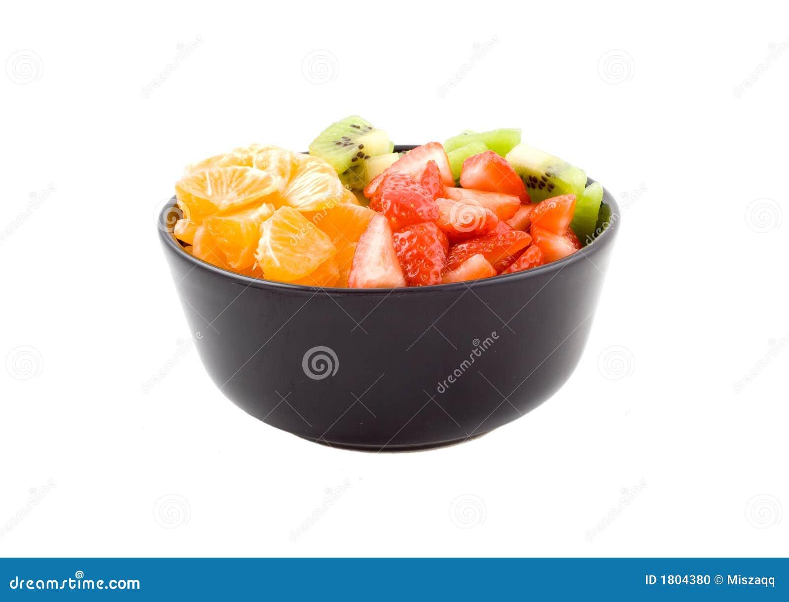 Gesundheit, Kiwi, Tangerine und Erdbeeren mit drei Farben