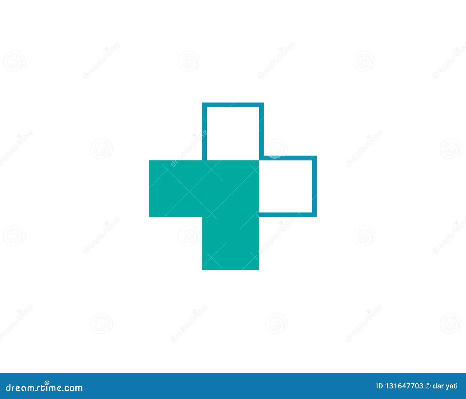 Gesundheits-medizinisches Logoschablonenvektor-Illustrationsdesign