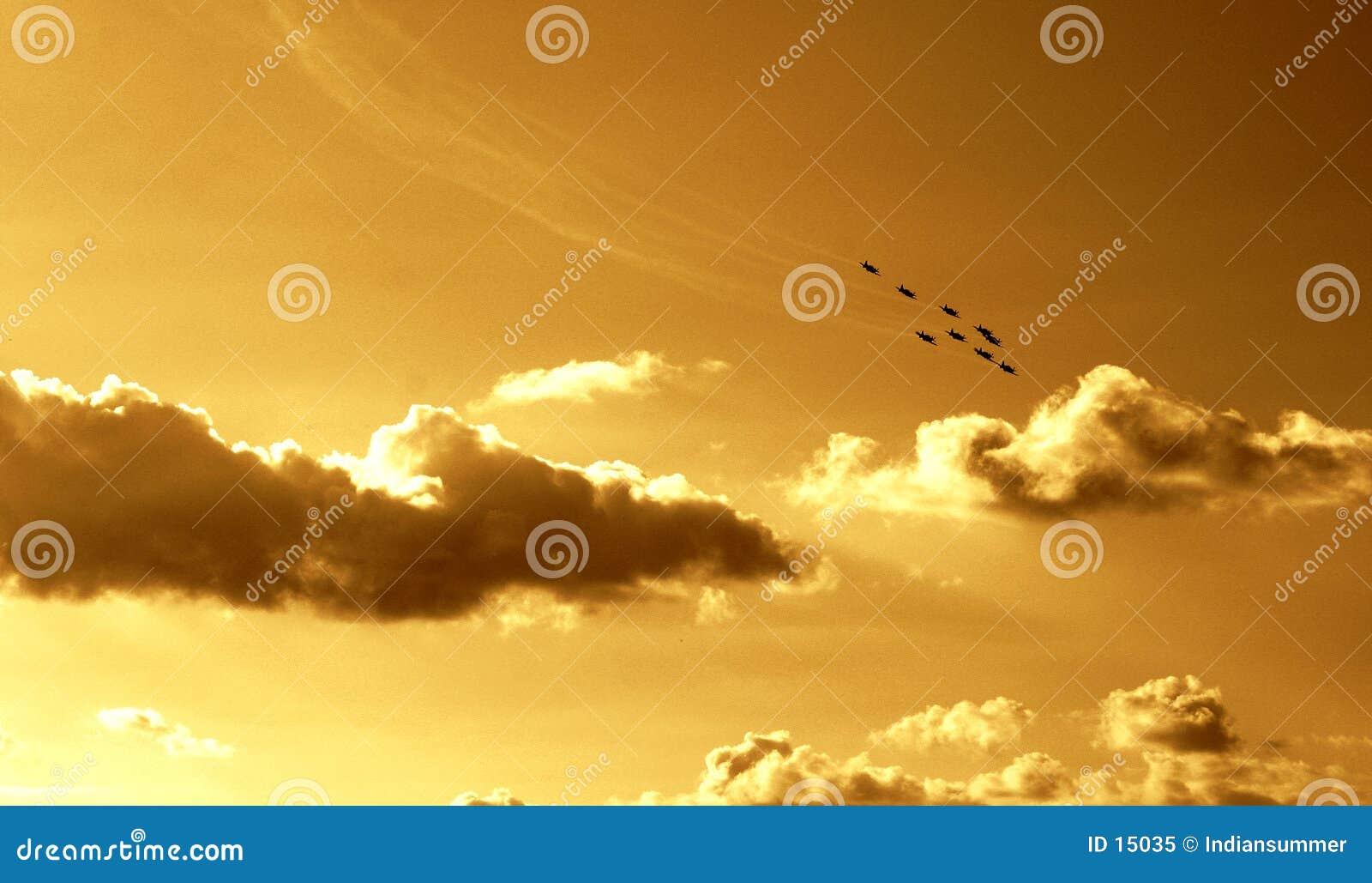 Gesynchroniseerde teamvlucht VI