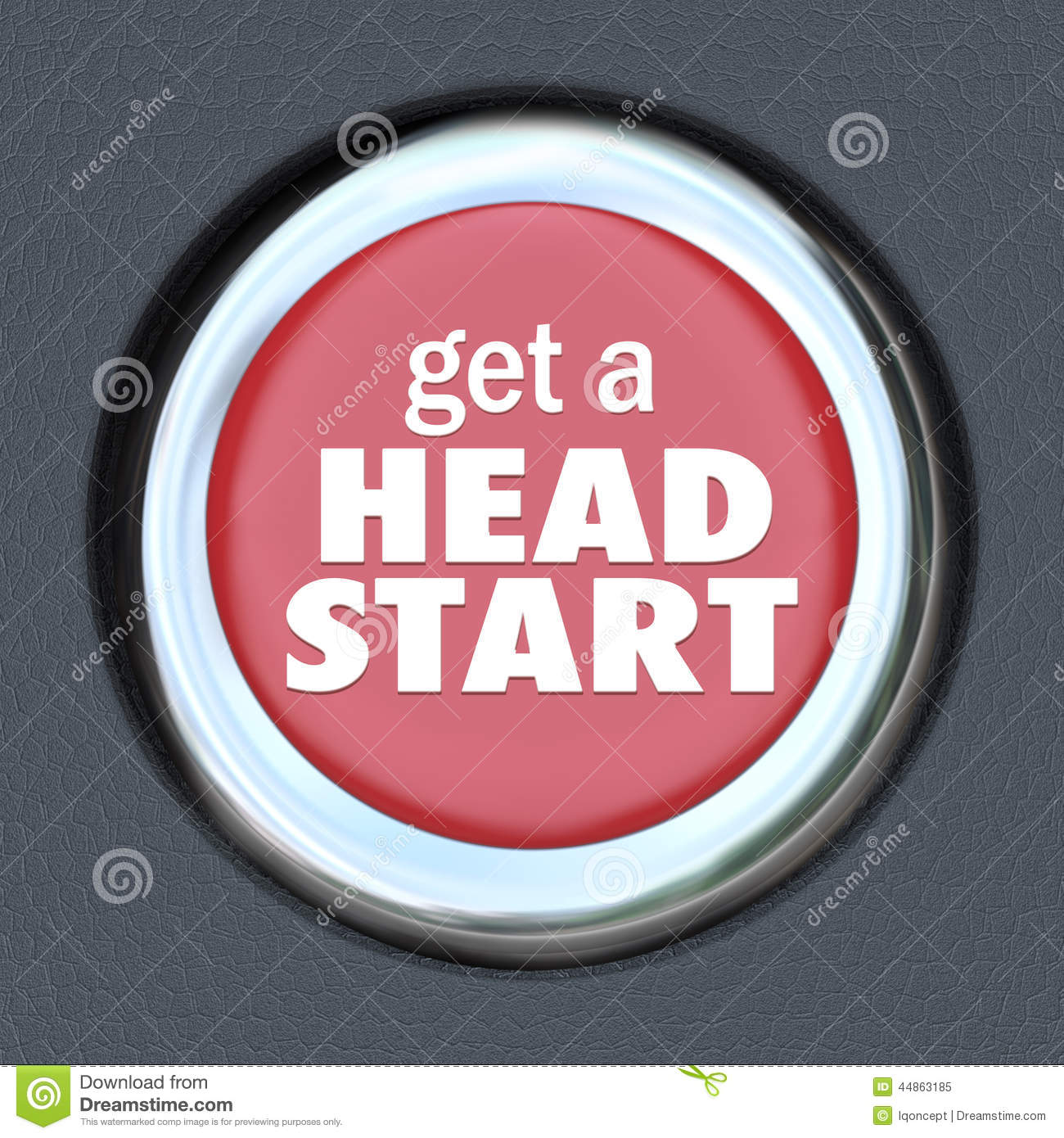 Get Head Start Red Button Competitive Advantage Early Edge