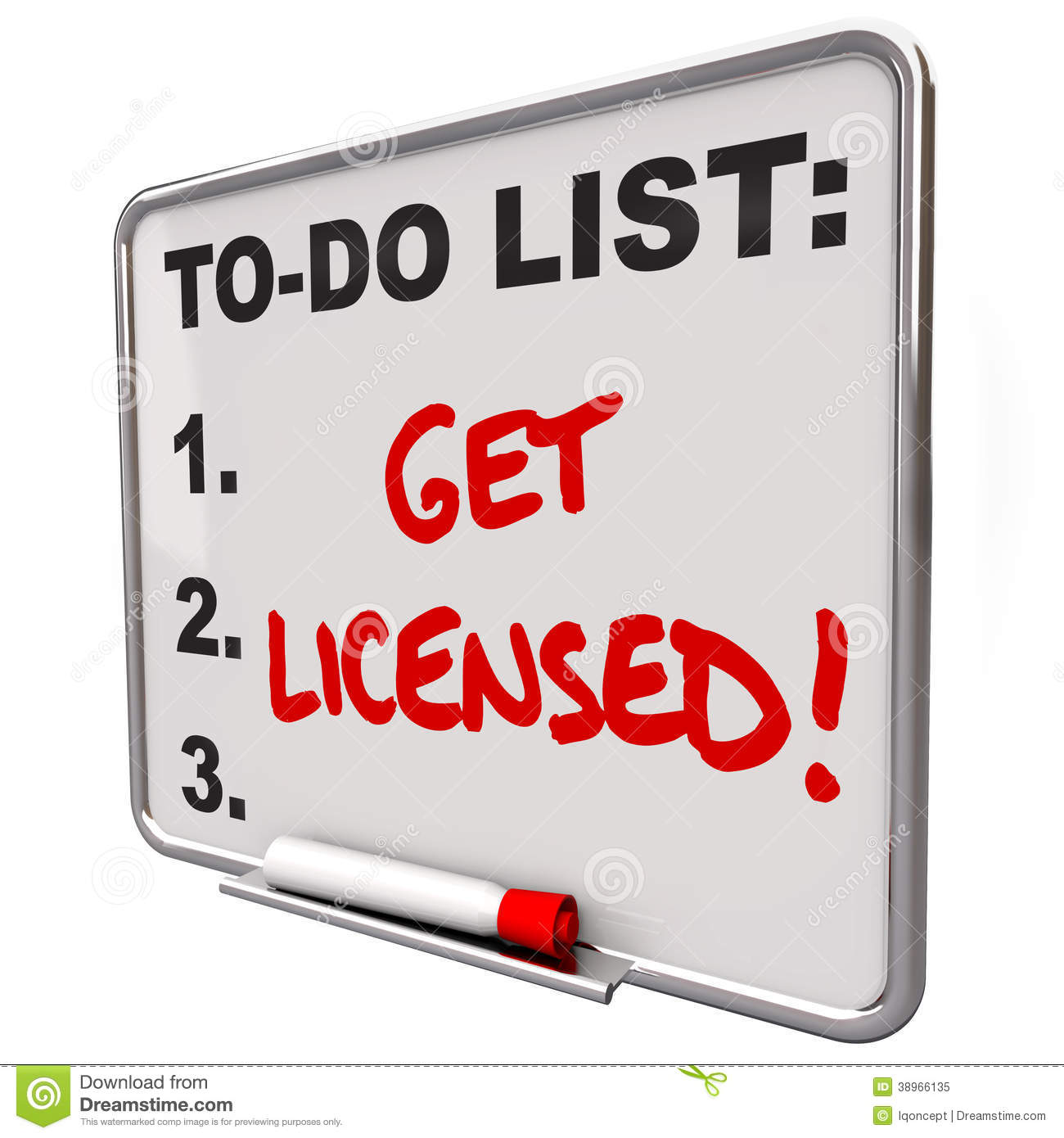 get licensed words to do list board approval stock illustration