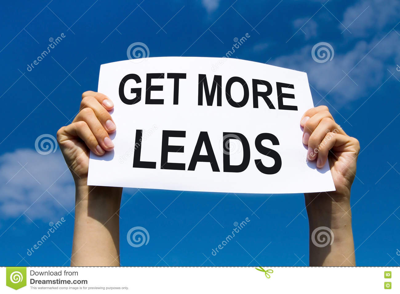 Get more leads, concept