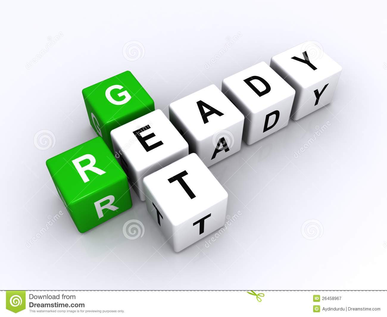 Get Ready Sign Royalty Free Stock Photography Image