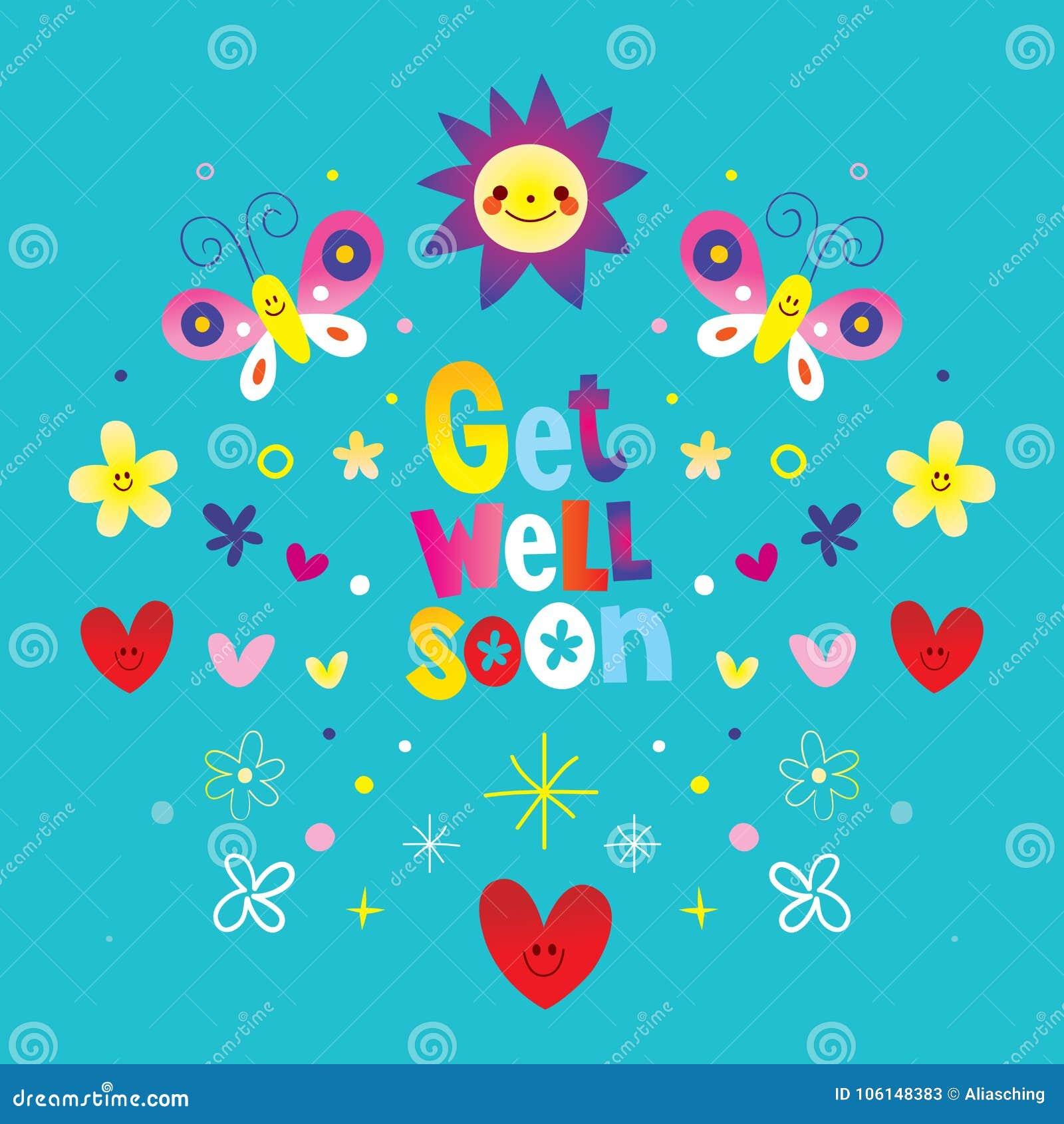 Get Well Soon Stock Vector Illustration Of Illness 106148383