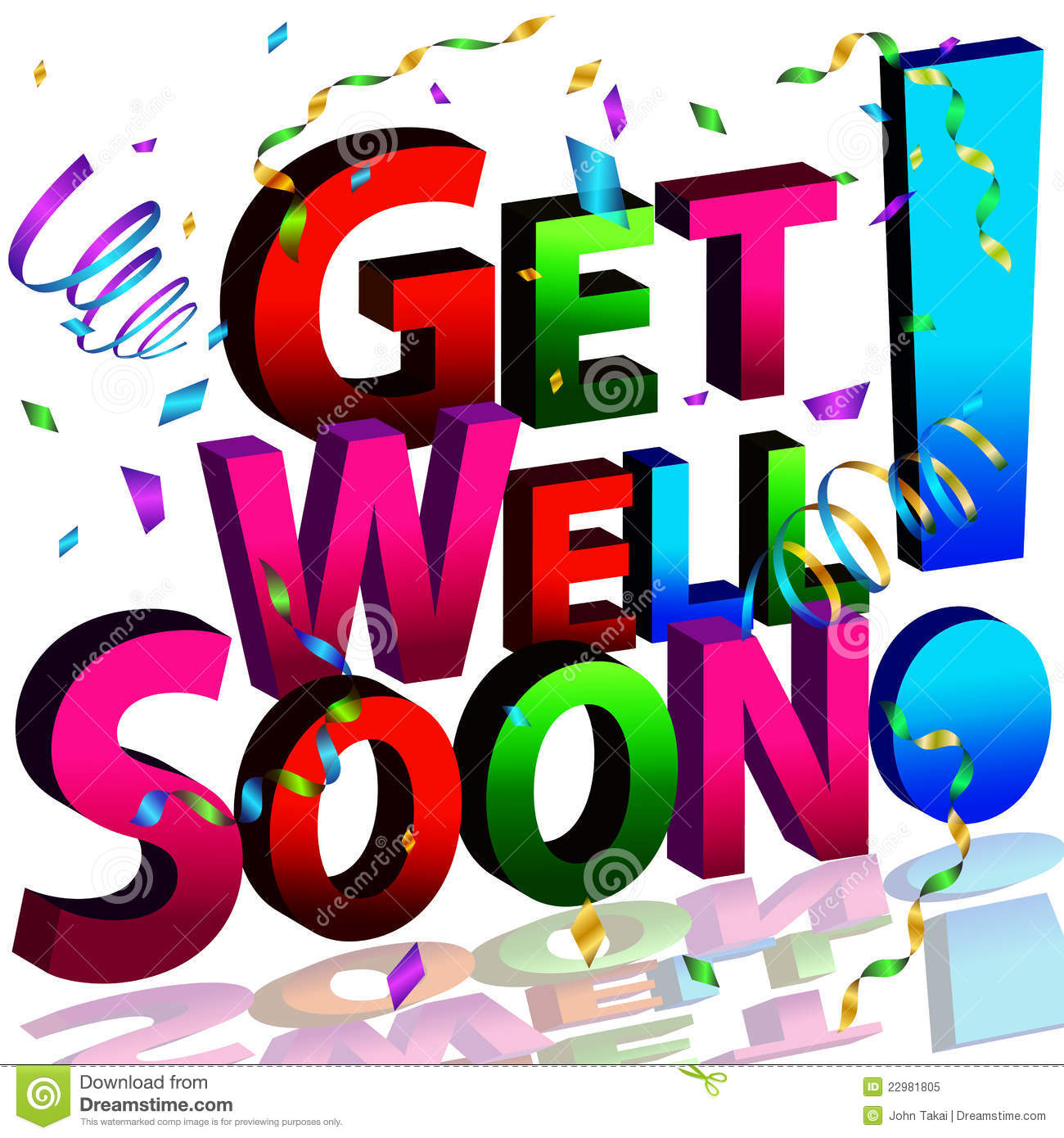 Get Well Soon Message Stock Vector Illustration Of Message 22981805