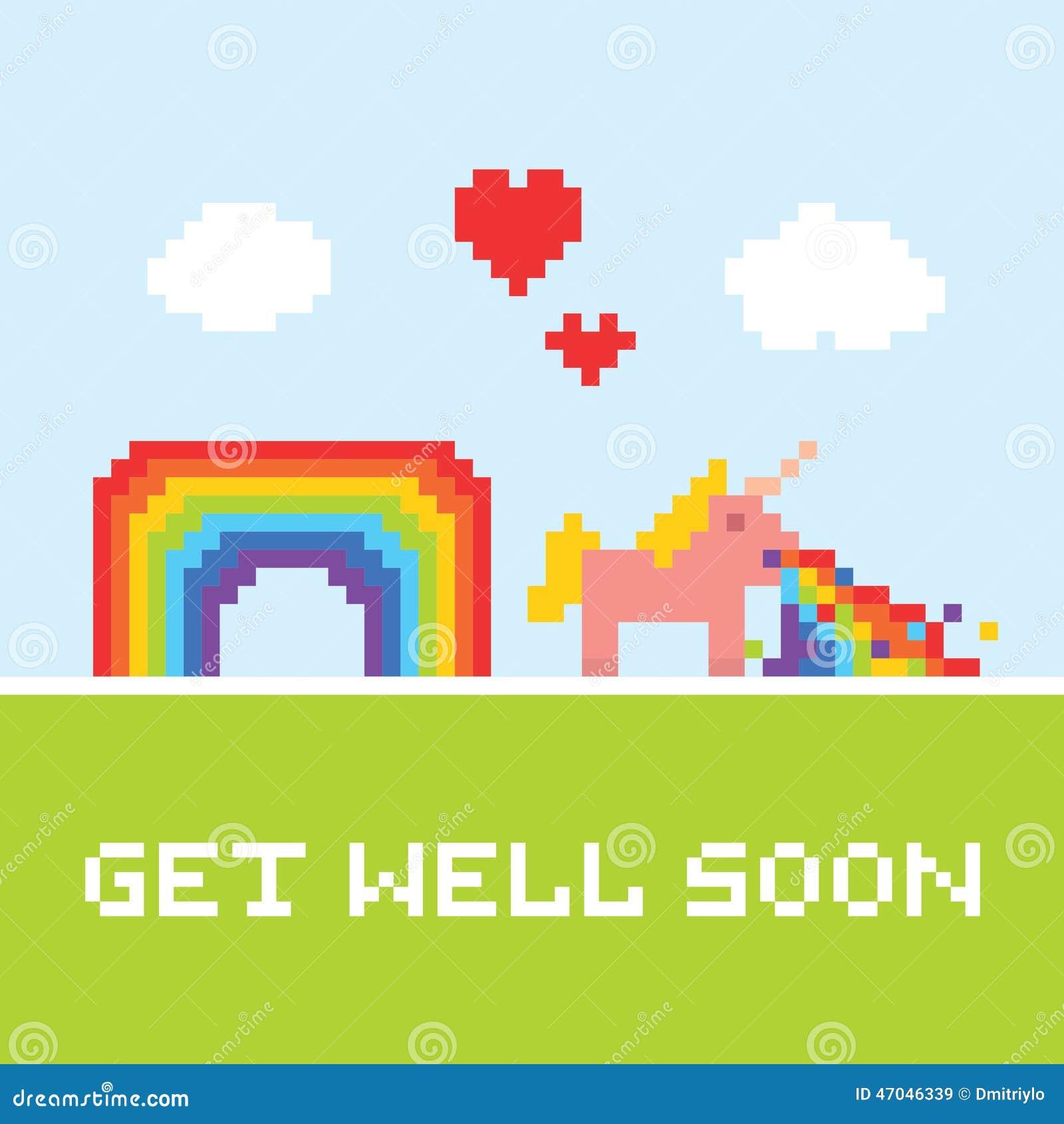 Get: Get Well Soon Unicorn Stock Vector. Illustration Of Magic