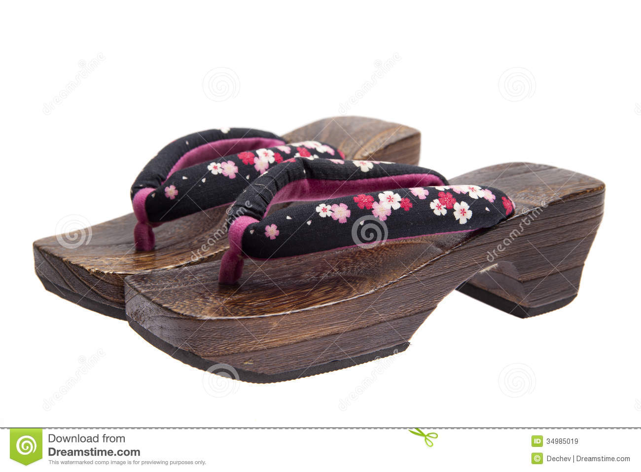 Geta, Japanese ornamental zori shoes, worn with a yukata or a kimono.