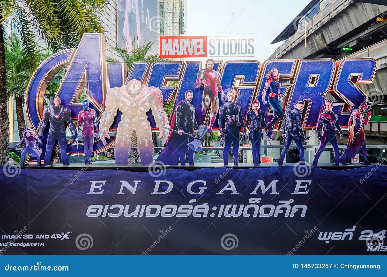 Getoonde de affiche van wrekersendgame; The Avengers, is een Amerikaanse die superherofilm op het Marvel Comics wordt gebaseerd