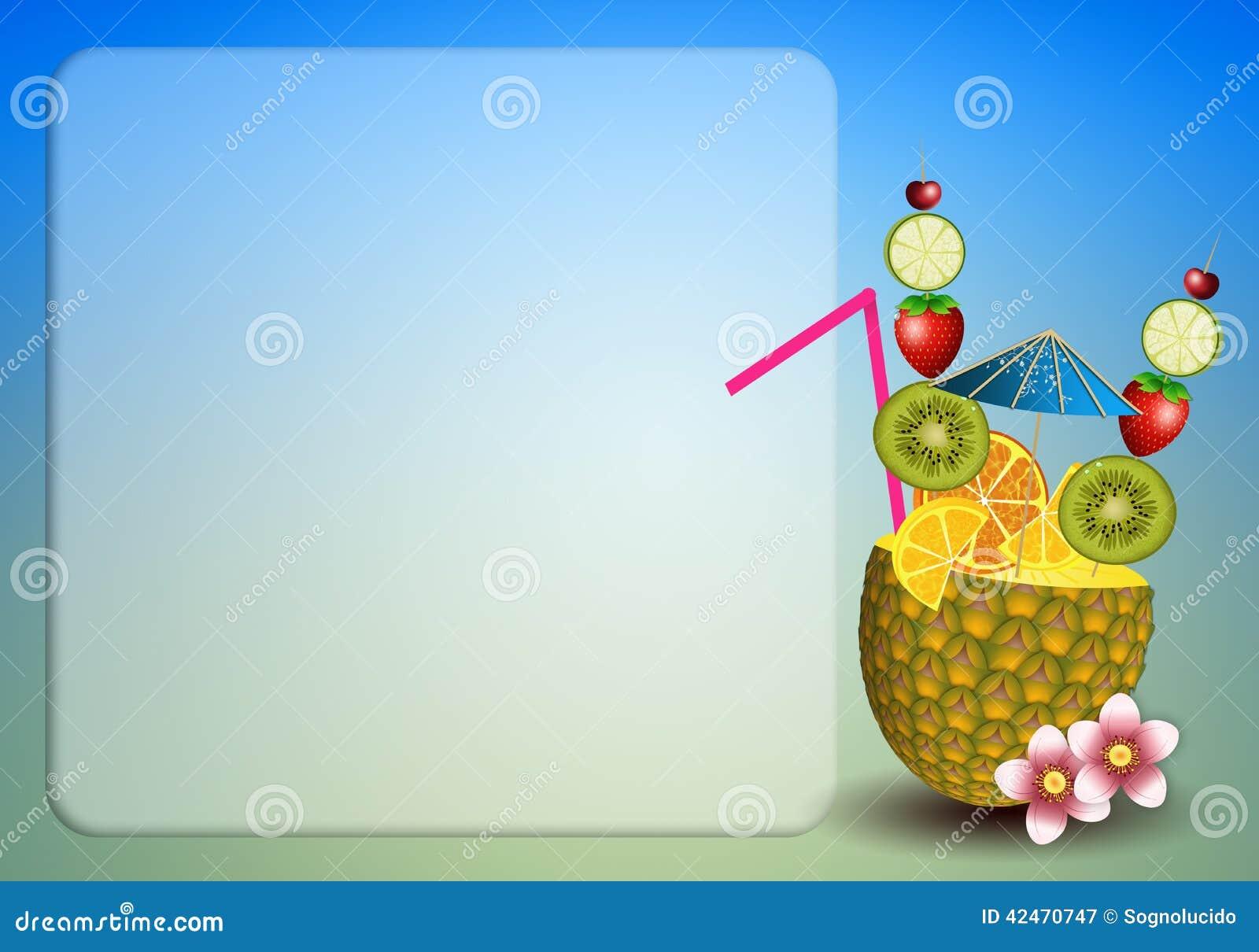 Getränkfrüchte in der Ananas