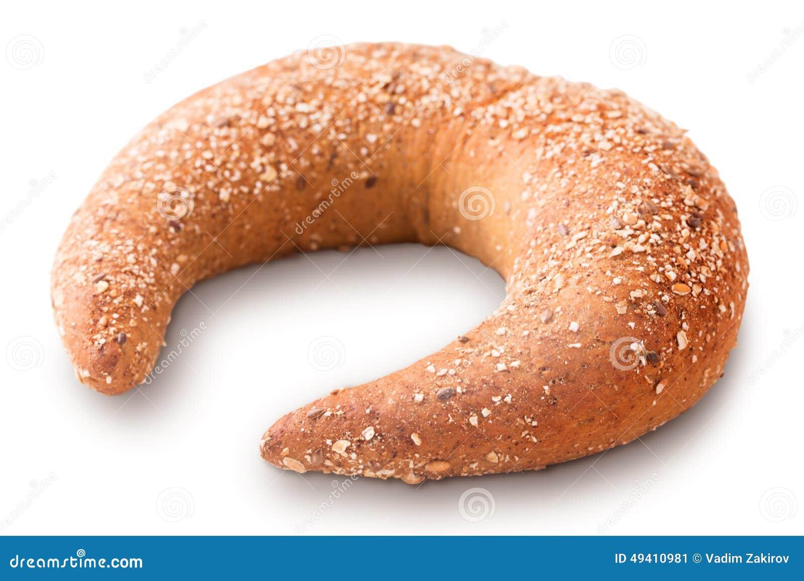 Download Getreidebagel stockbild. Bild von einzeln, herzlich, ernährung - 49410981