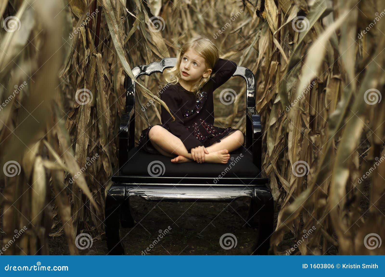 Getreidefeld-Mädchen