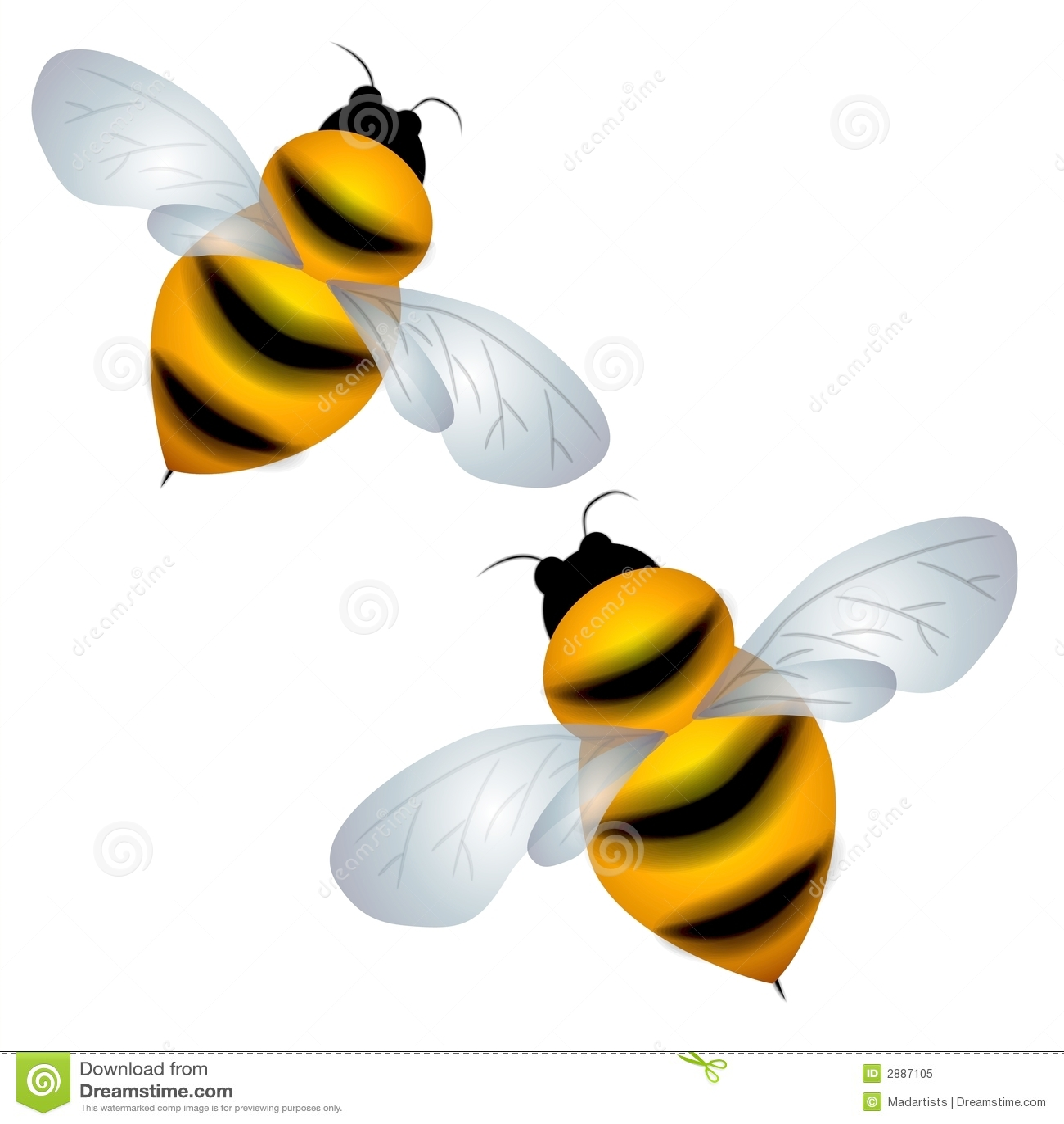 Getrennt mogeln Sie das Bienen-Fliegen durch