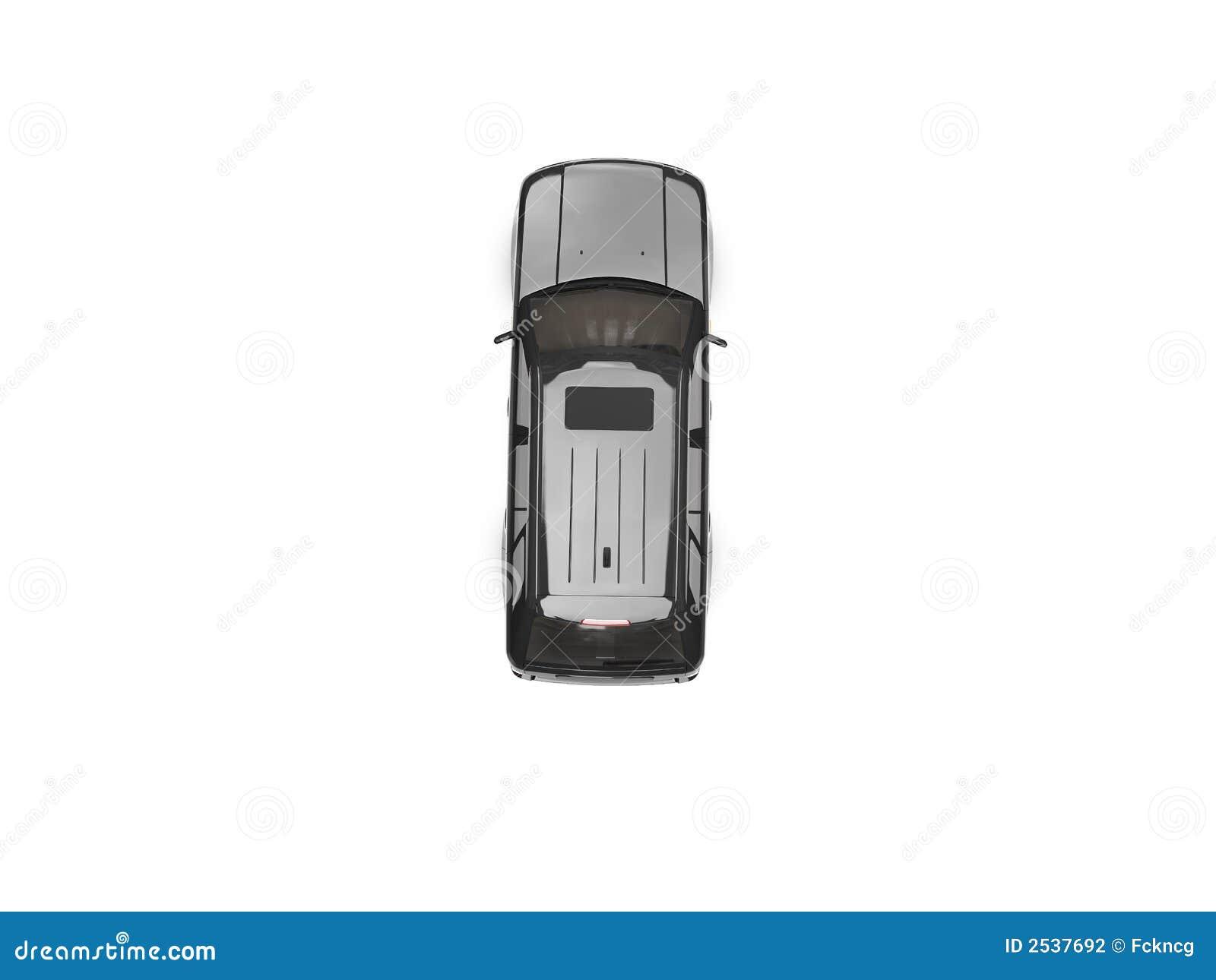 Getrennte Draufsicht Des Schwarzen Autos Stock Abbildung ...