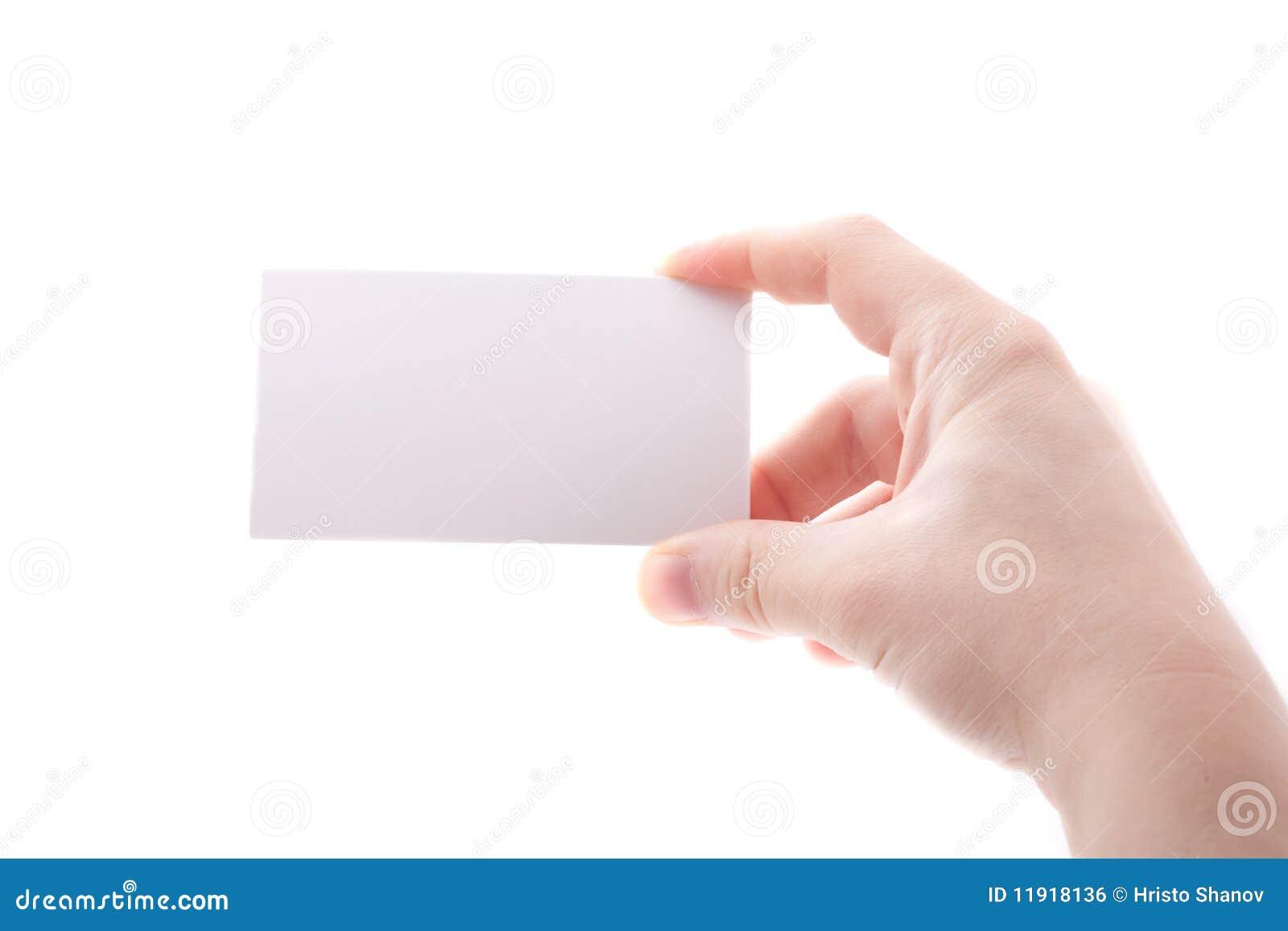 Getrennte leere Visitenkarte