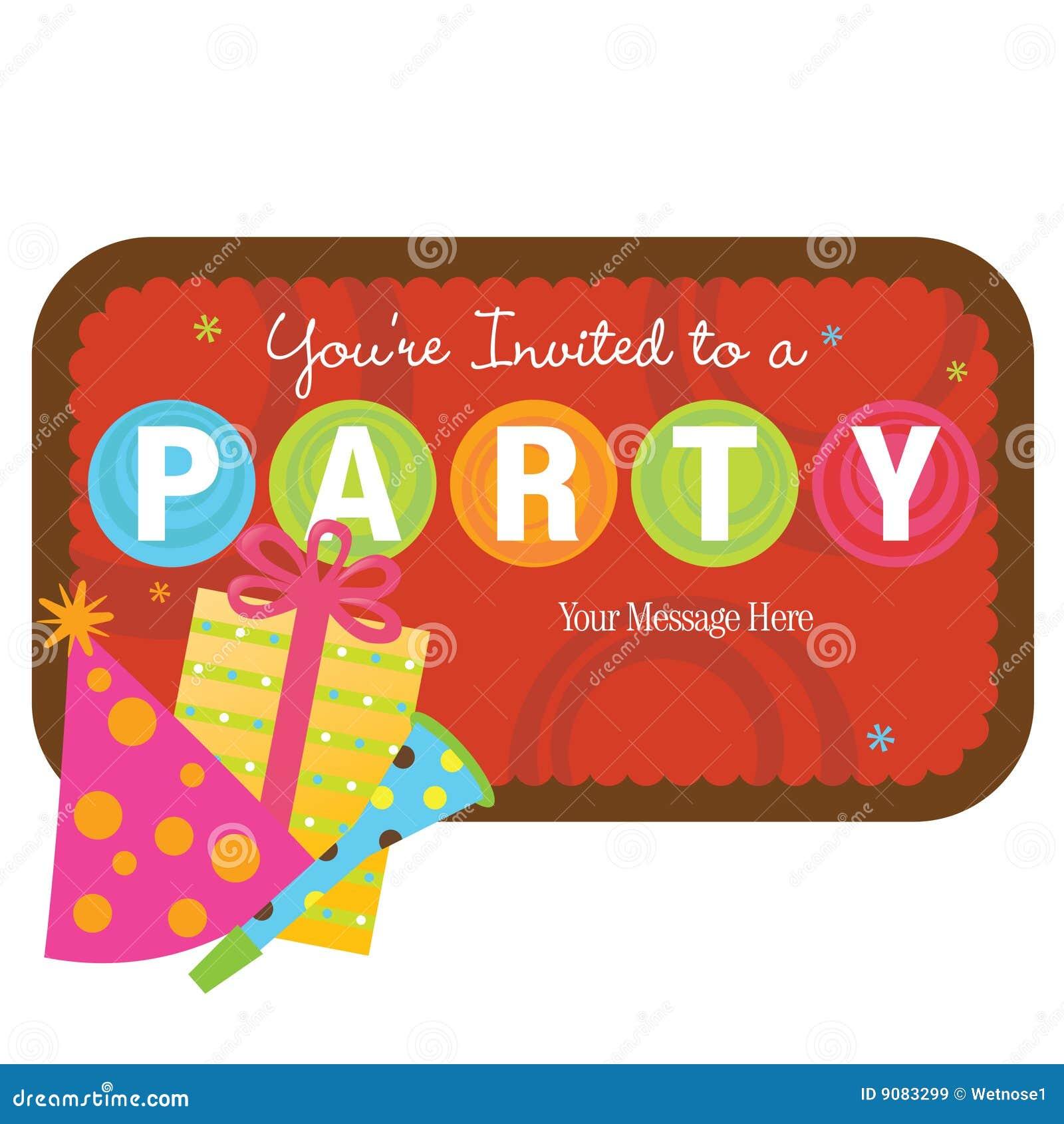 Getrennte Partyfelder mit Zeichen