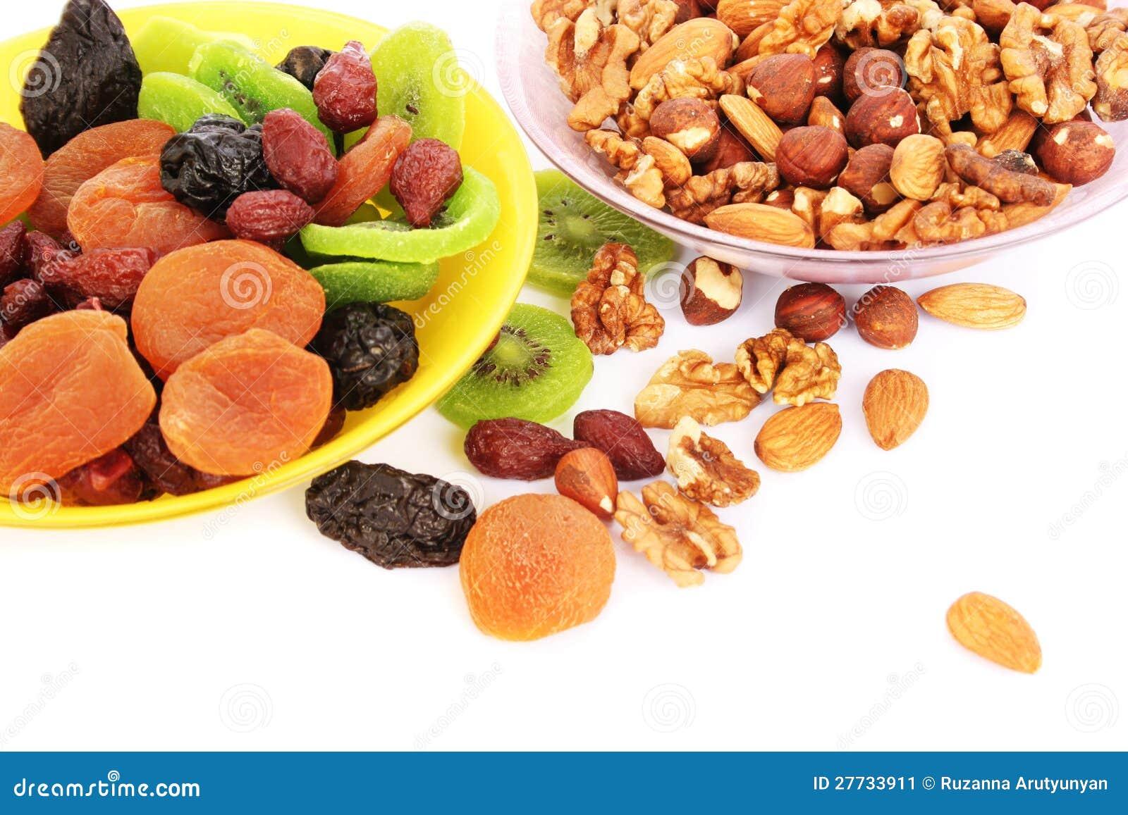 Getrocknete Früchte und Muttern