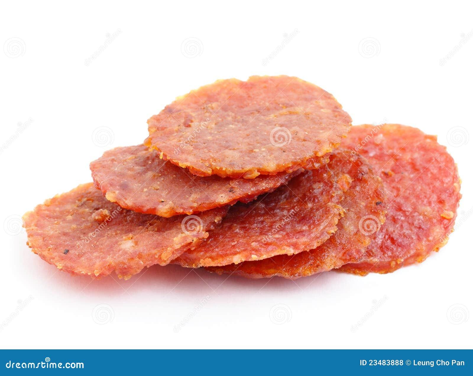 getrocknetes schweinefleisch