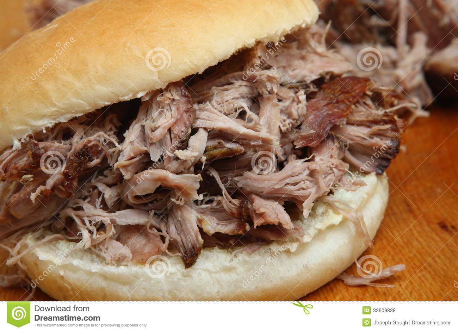 Getrokken Varkensvlees of Varkensbraadstukbroodje