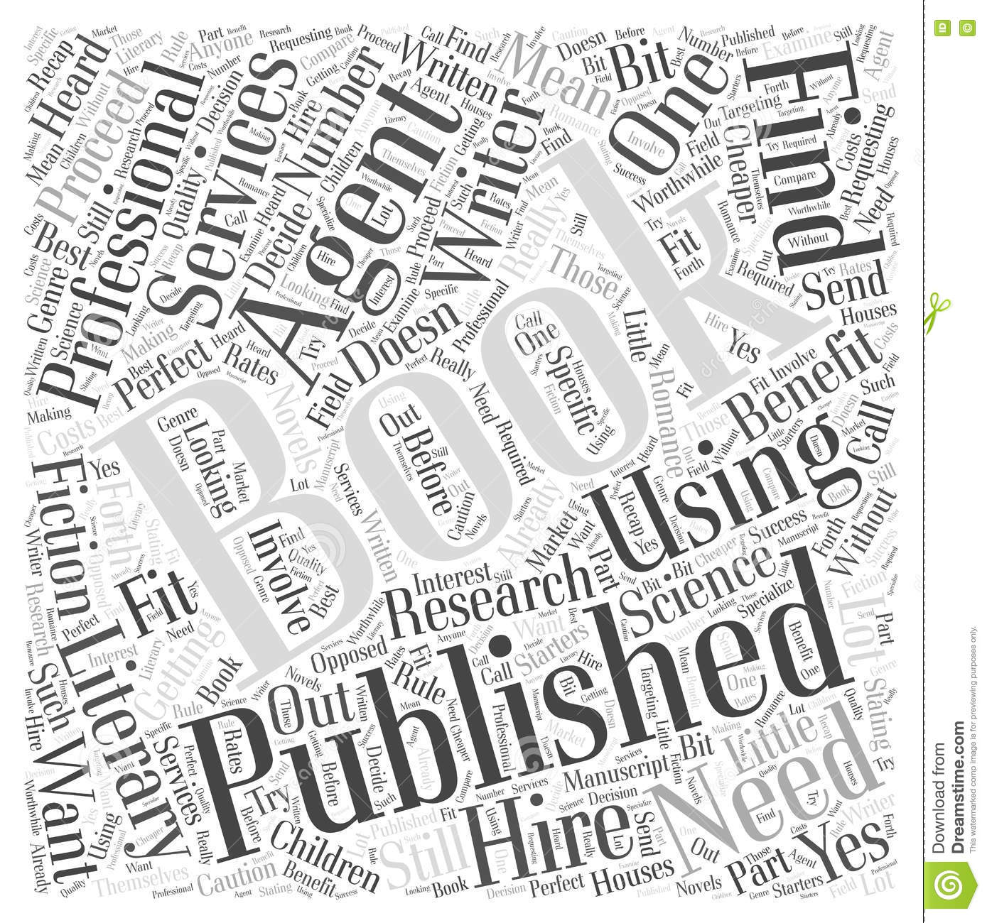 Getting A Book Published Do You Need An Agent Word Cloud Concept ...