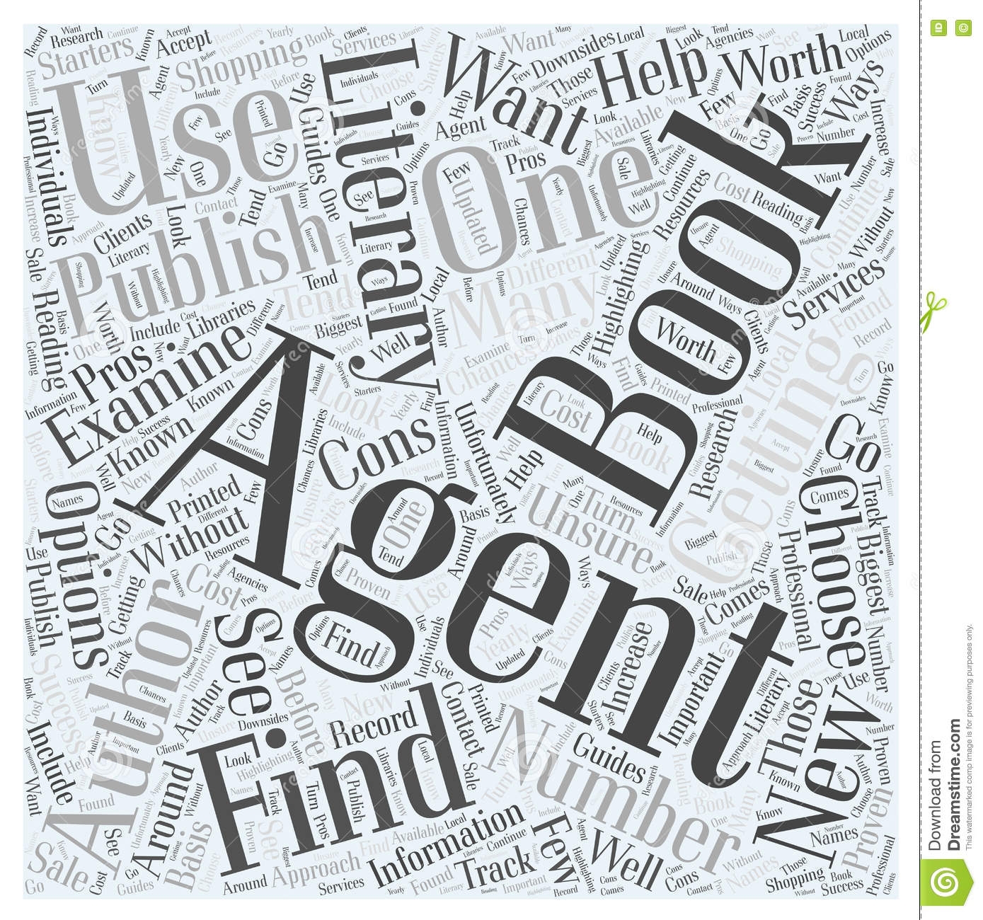 Getting A Book Published How To Find A Literary Agent Word Cloud ...