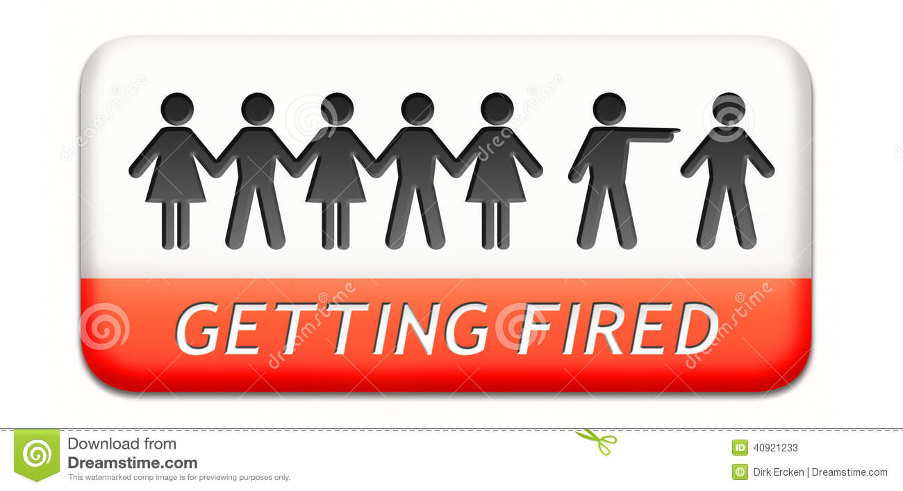 getting fired losing job stock illustration image  getting fired losing job