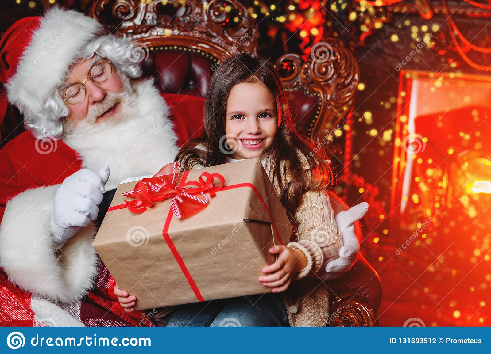 Getting present from santa