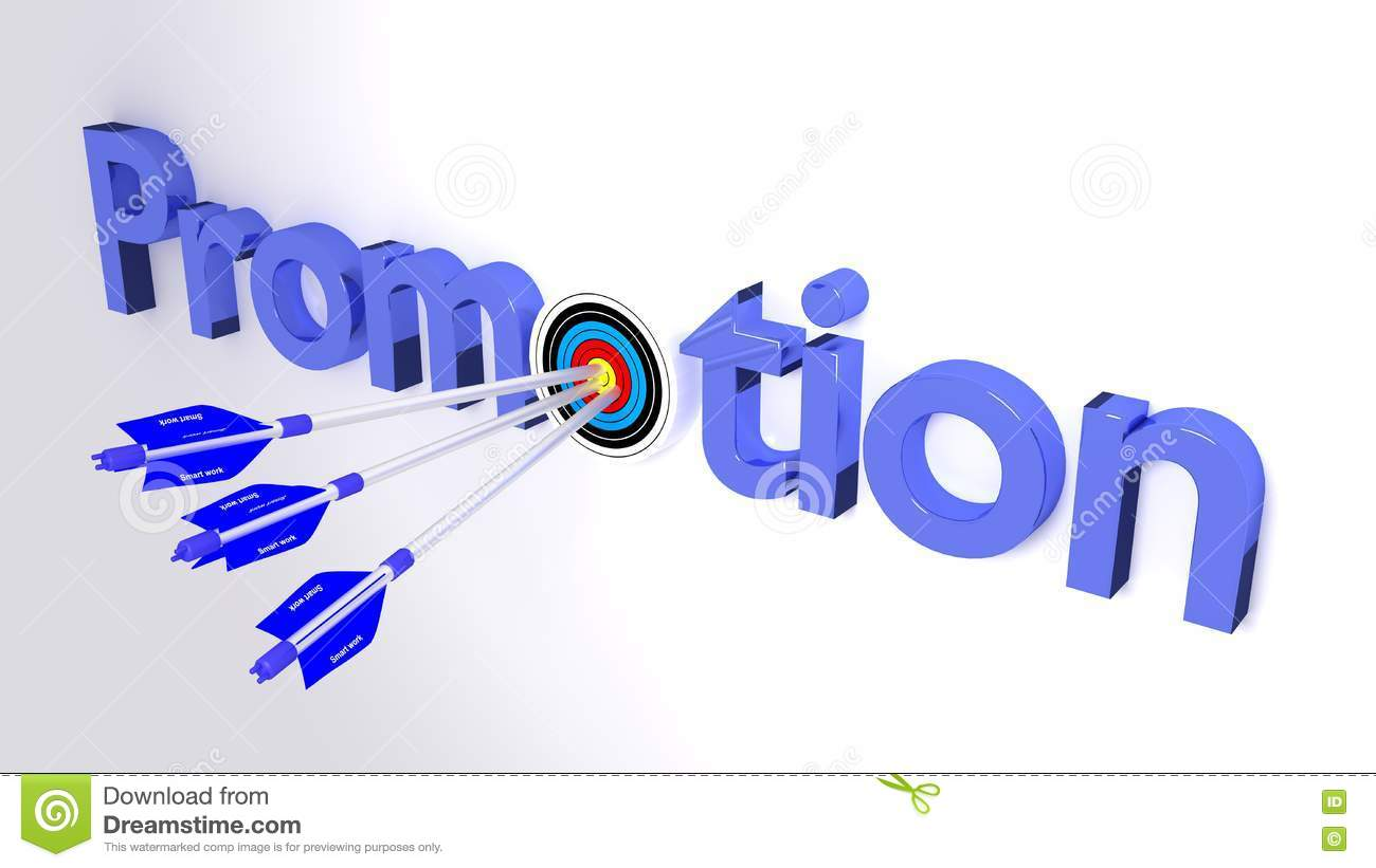 getting a promotion through smart work business concept stock getting a promotion through smart work business concept