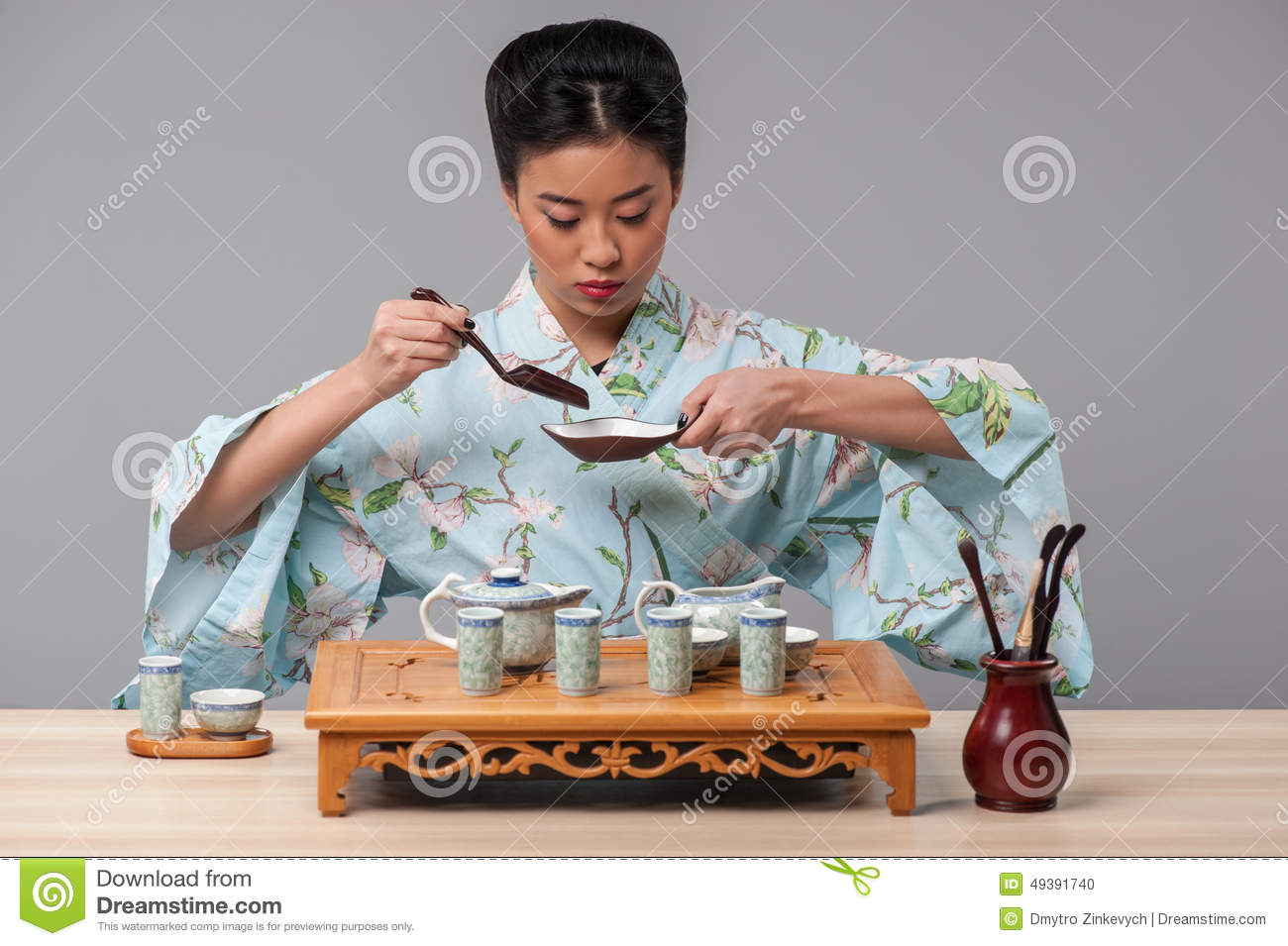 Getting Ready For Tea Ceremony Stock Photo Image 49391740