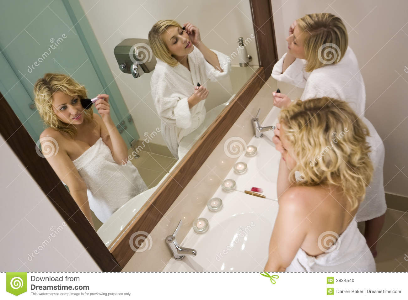 Girls getting ready to go out