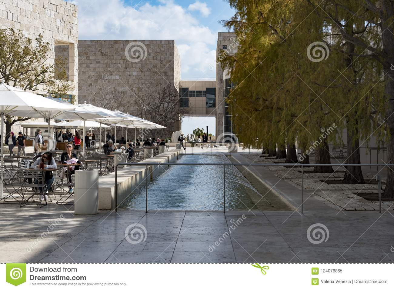 The Getty Center, campus of the Getty Museum.