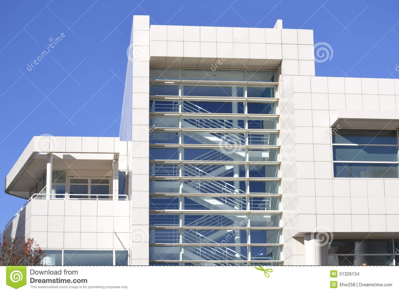 Getty center staircase architecture detail stock photo image 51326134 - Modern architectural trio ...