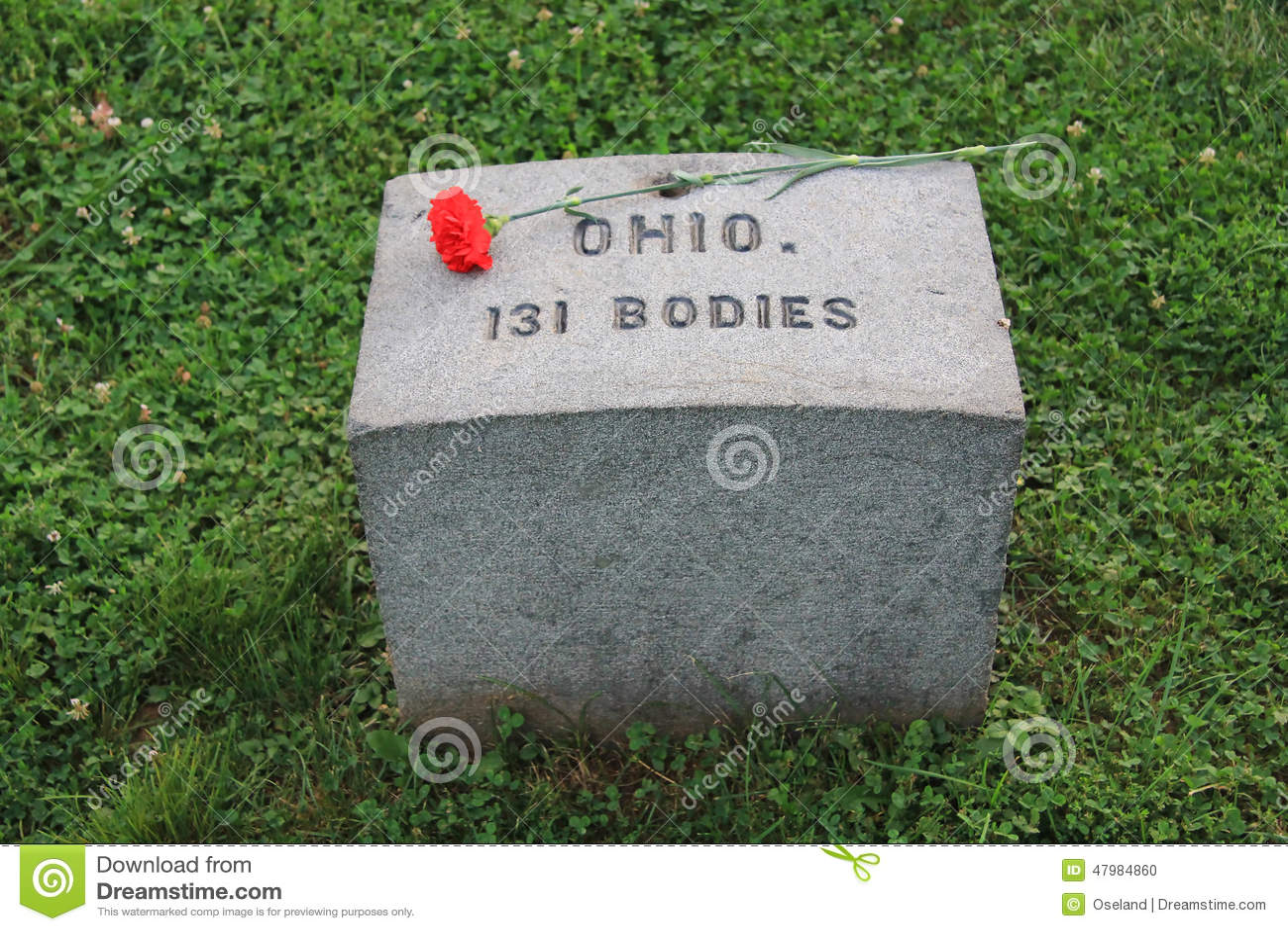 Red Granite Ohio : Gettysburg soldier s cemetery ohio marker editorial image