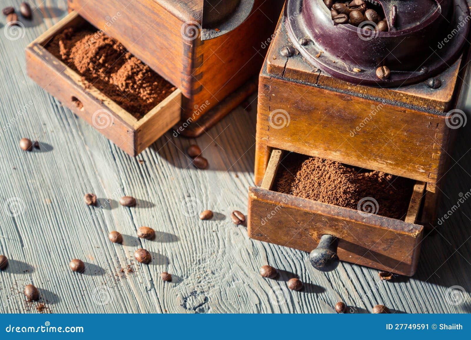 Geur van vers grondkoffie