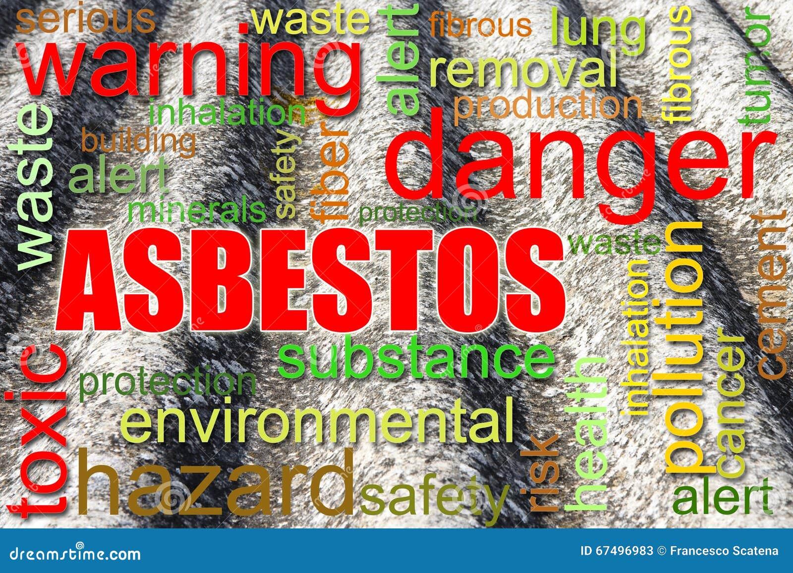 Gevaarlijk het conceptenbeeld van het asbestdak
