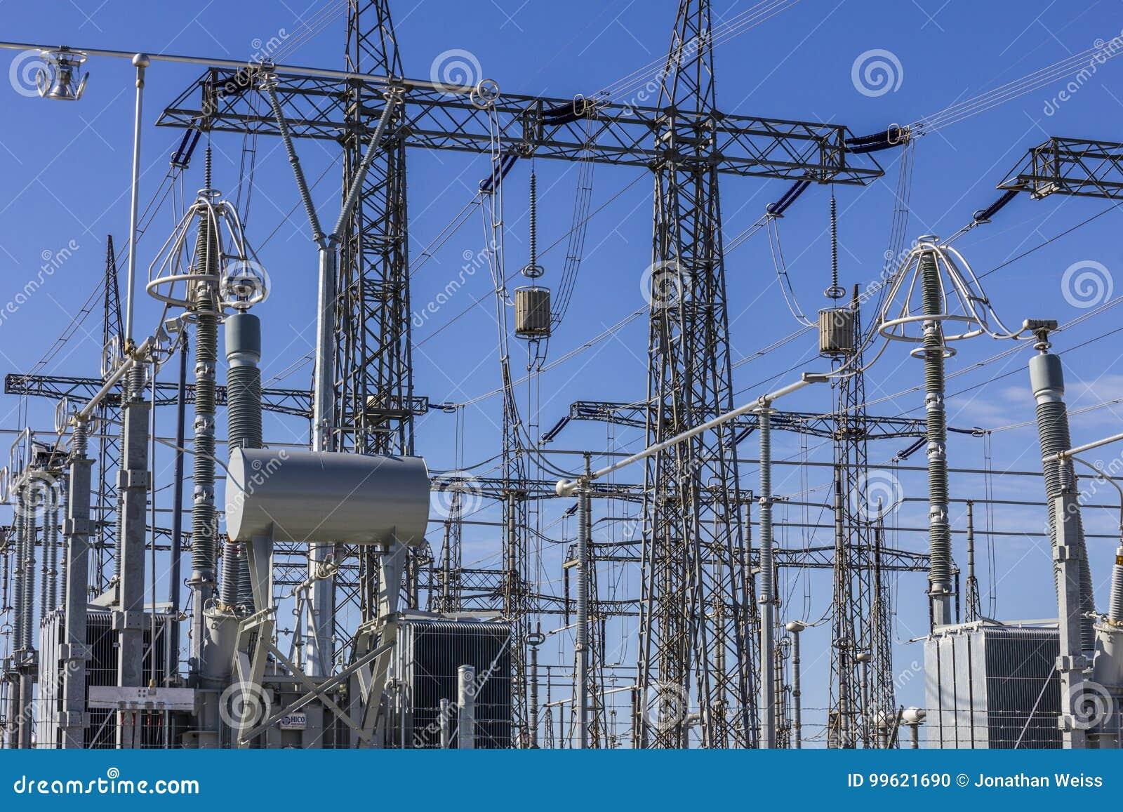 Gevaarlijk Hulpkantoor IV van de Hoogspannings Elektromacht