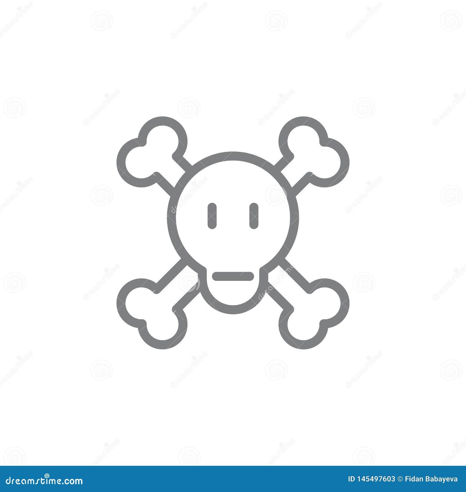 Gevaarlijk overzichtspictogram Elementen van het rokende pictogram van de activiteitenillustratie De tekens en de symbolen kunnen