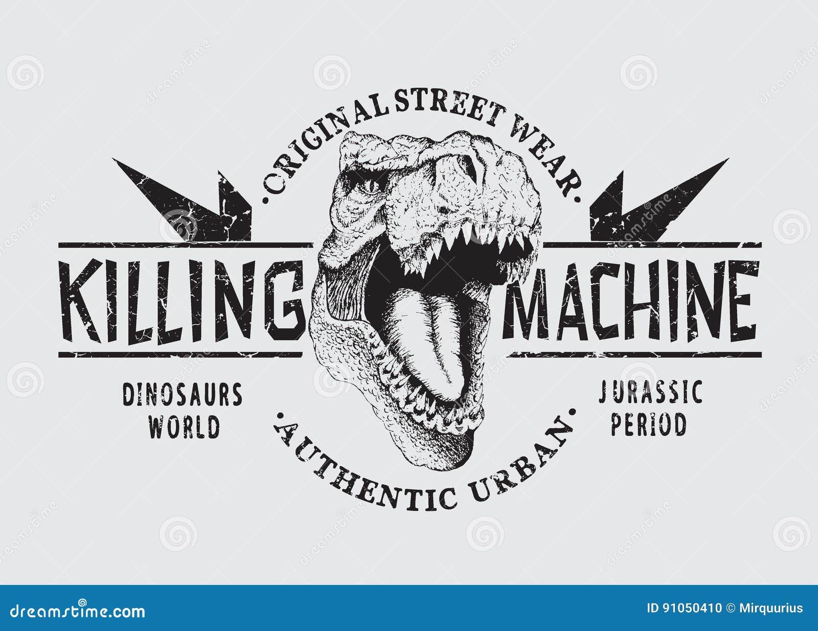 Gevaarlijk tyranosaurhoofd